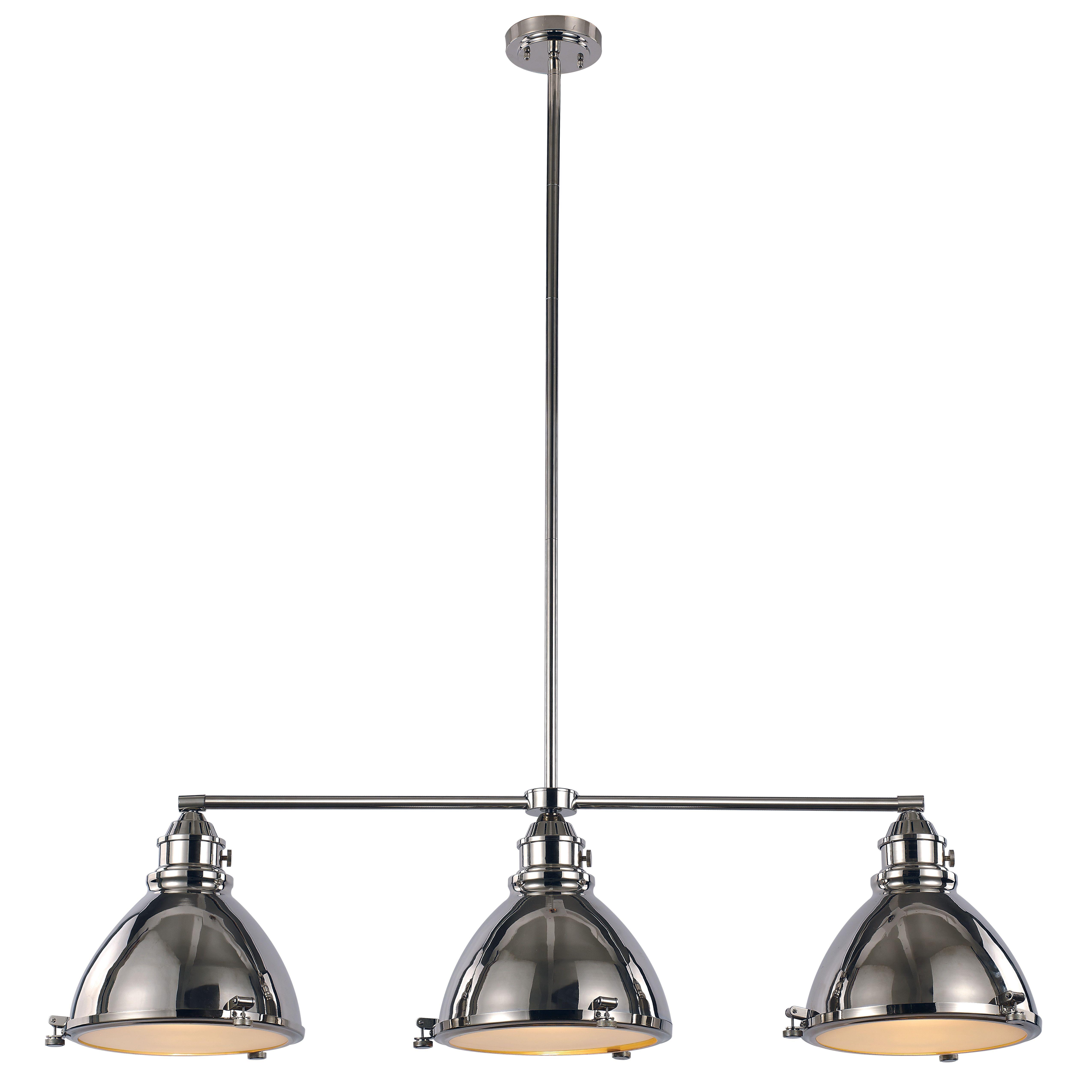 Dewey 3 Light Kitchen Island Pendant | Living Space | Island With Regard To Irwin 1 Light Single Globe Pendants (View 5 of 30)