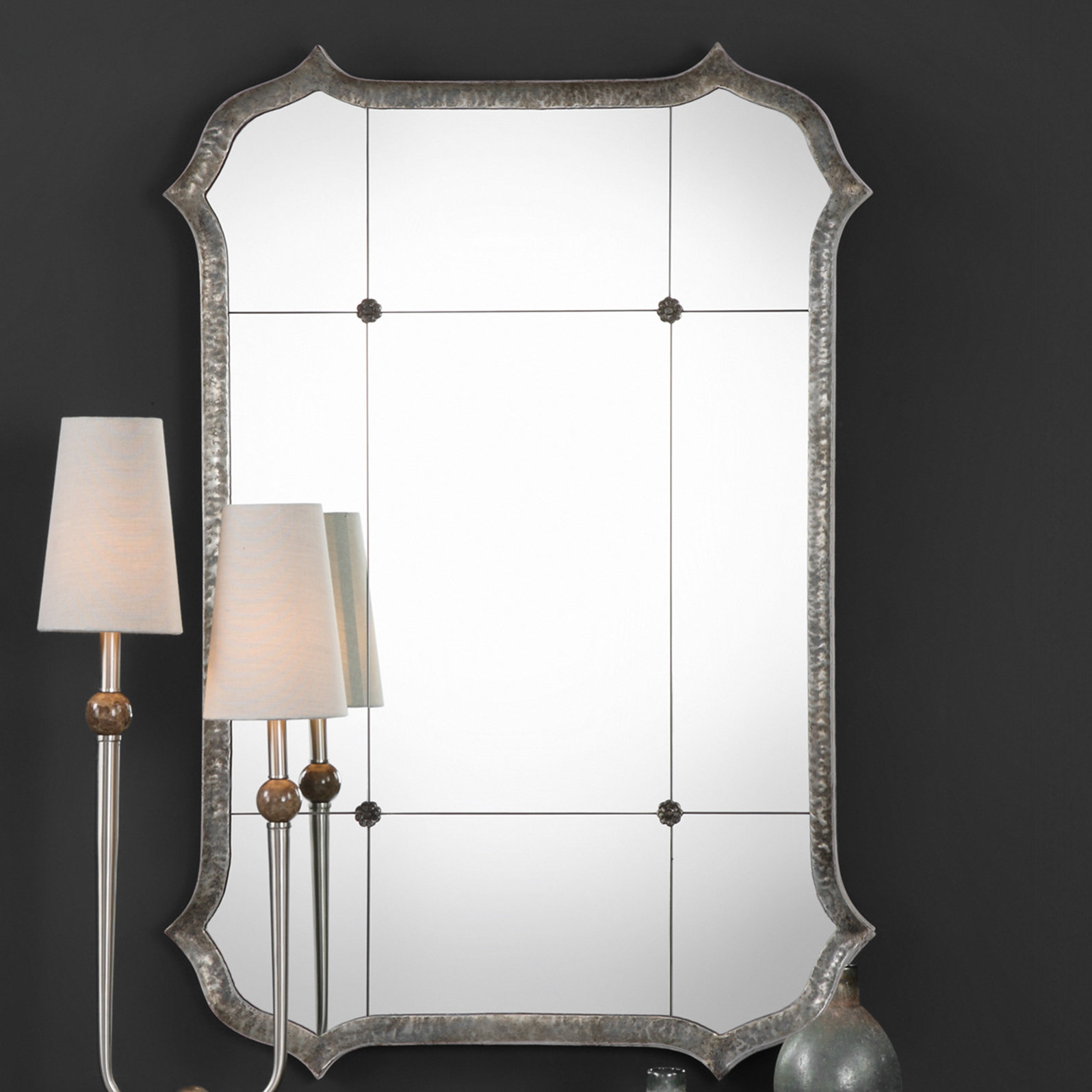Dex Lesina Hammered Modern & Contemporary Accent Mirror With Menachem Modern & Contemporary Accent Mirrors (Image 7 of 30)