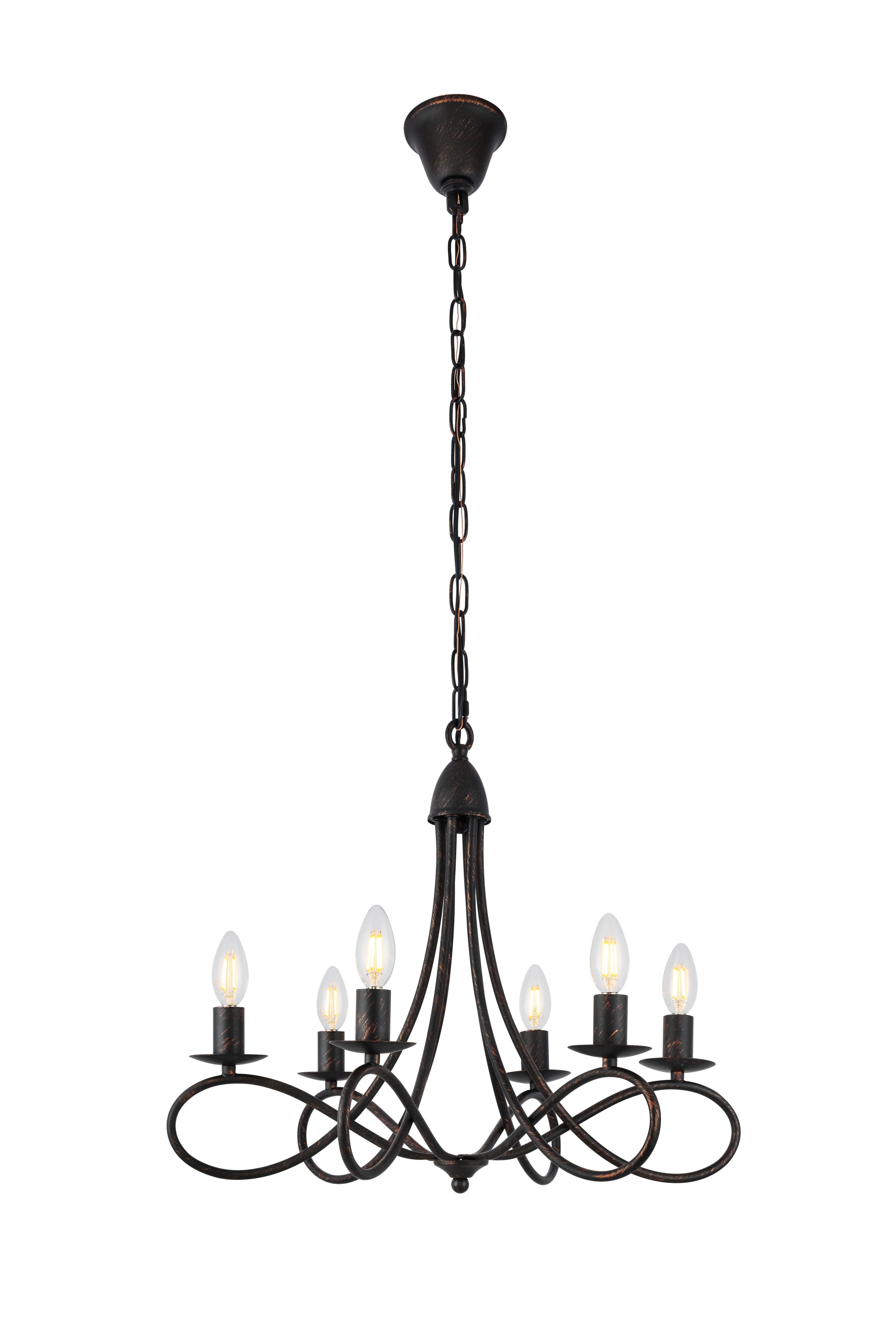 Diaz 6 Light Candle Style Chandelier Regarding Perseus 6 Light Candle Style Chandeliers (Gallery 10 of 30)