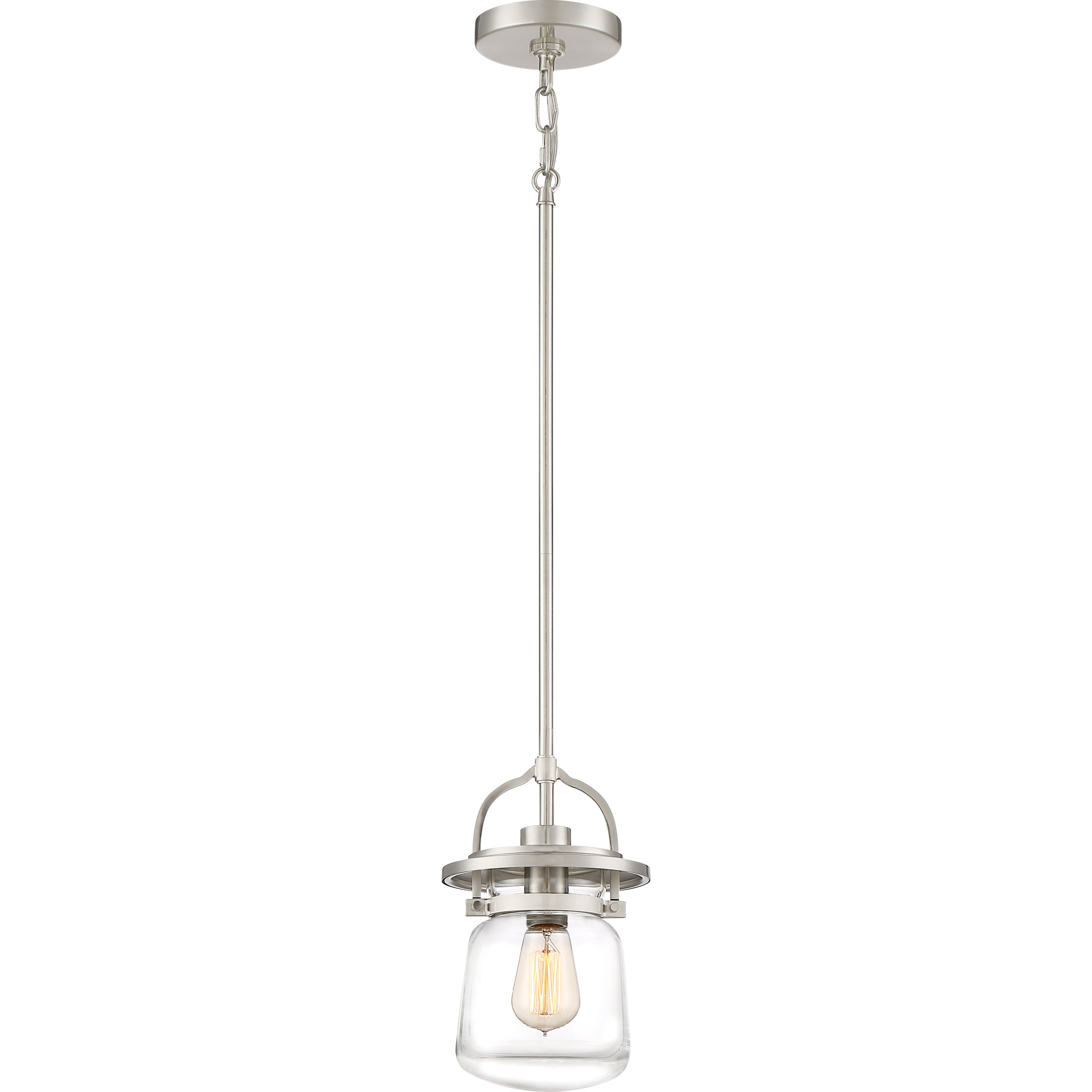 Dickerson 1 Light Single Jar Pendant With Regard To Roslindale 1 Light Single Bell Pendants (Photo 17 of 30)