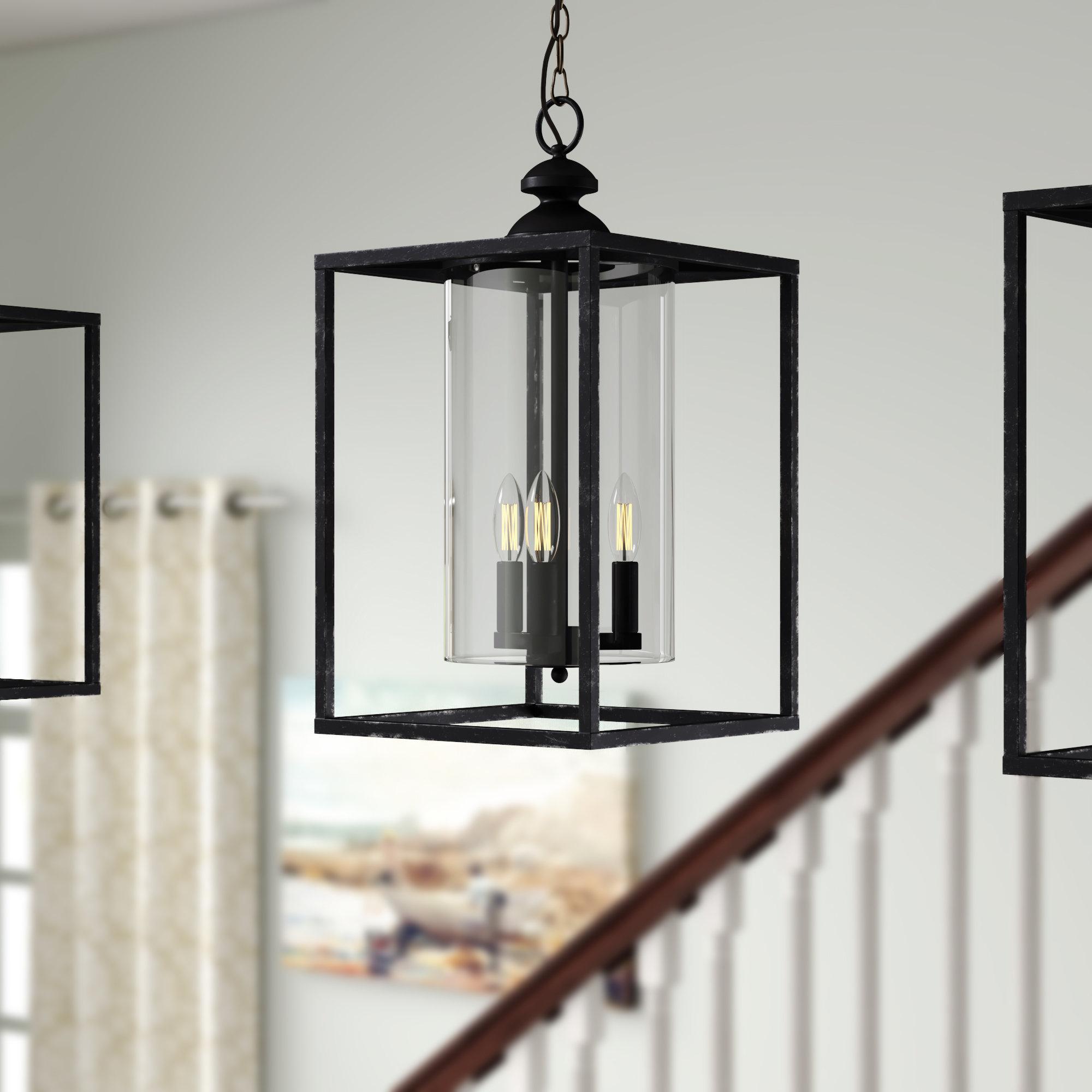 Didmarton 3 Light Square/rectangle Pendant Pertaining To Finnick 3 Light Lantern Pendants (View 15 of 30)