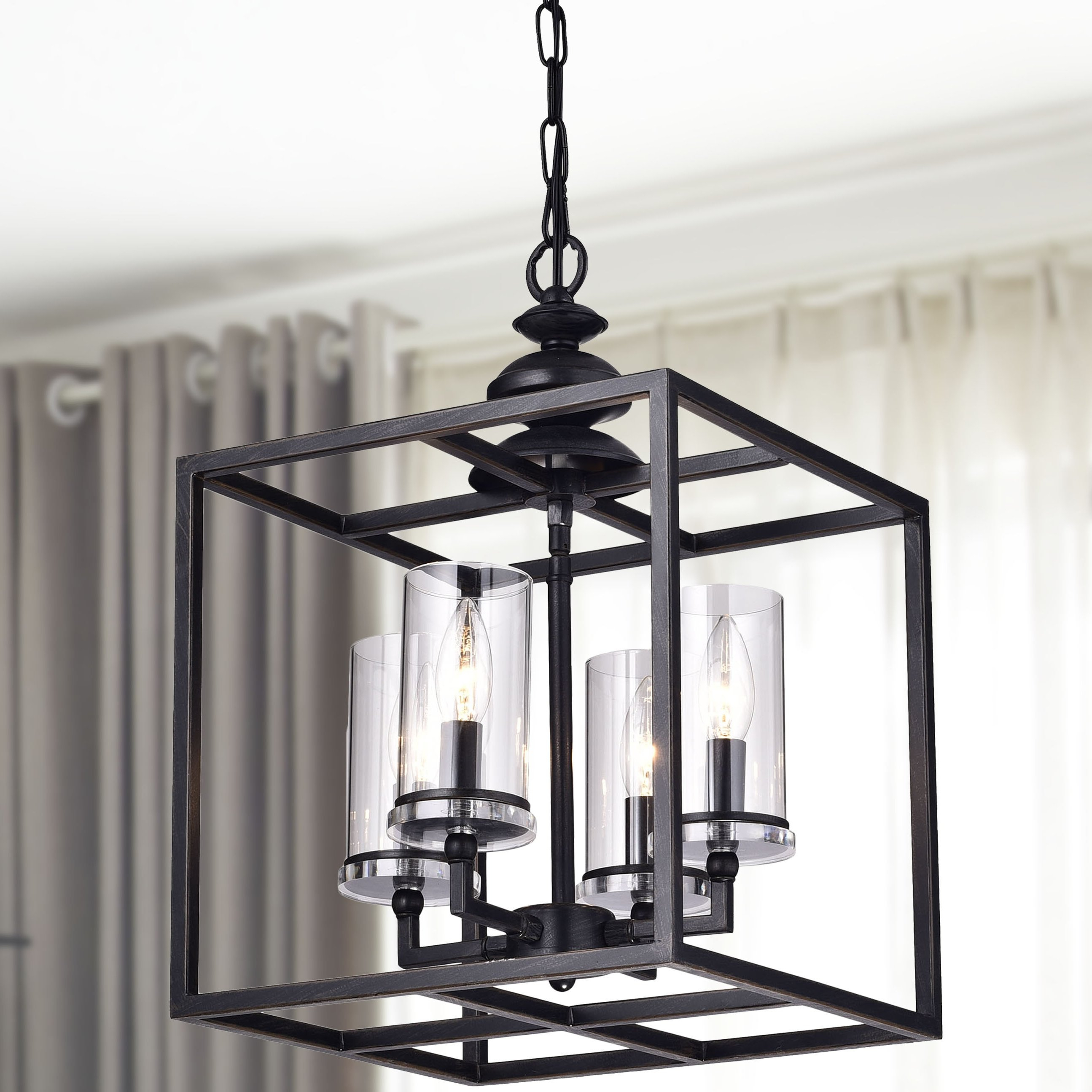 Didmarton 4 Light Square/rectangle Chandelier Pertaining To Ellenton 4 Light Rectangle Chandeliers (Gallery 5 of 30)
