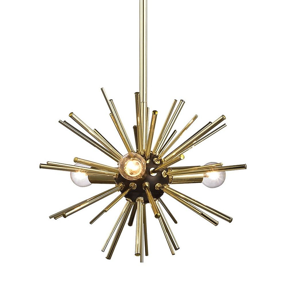 Dimond Starburst Pendant   Gold | Retro Wave | Pendant Light With Nelly 12 Light Sputnik Chandeliers (Photo 26 of 30)