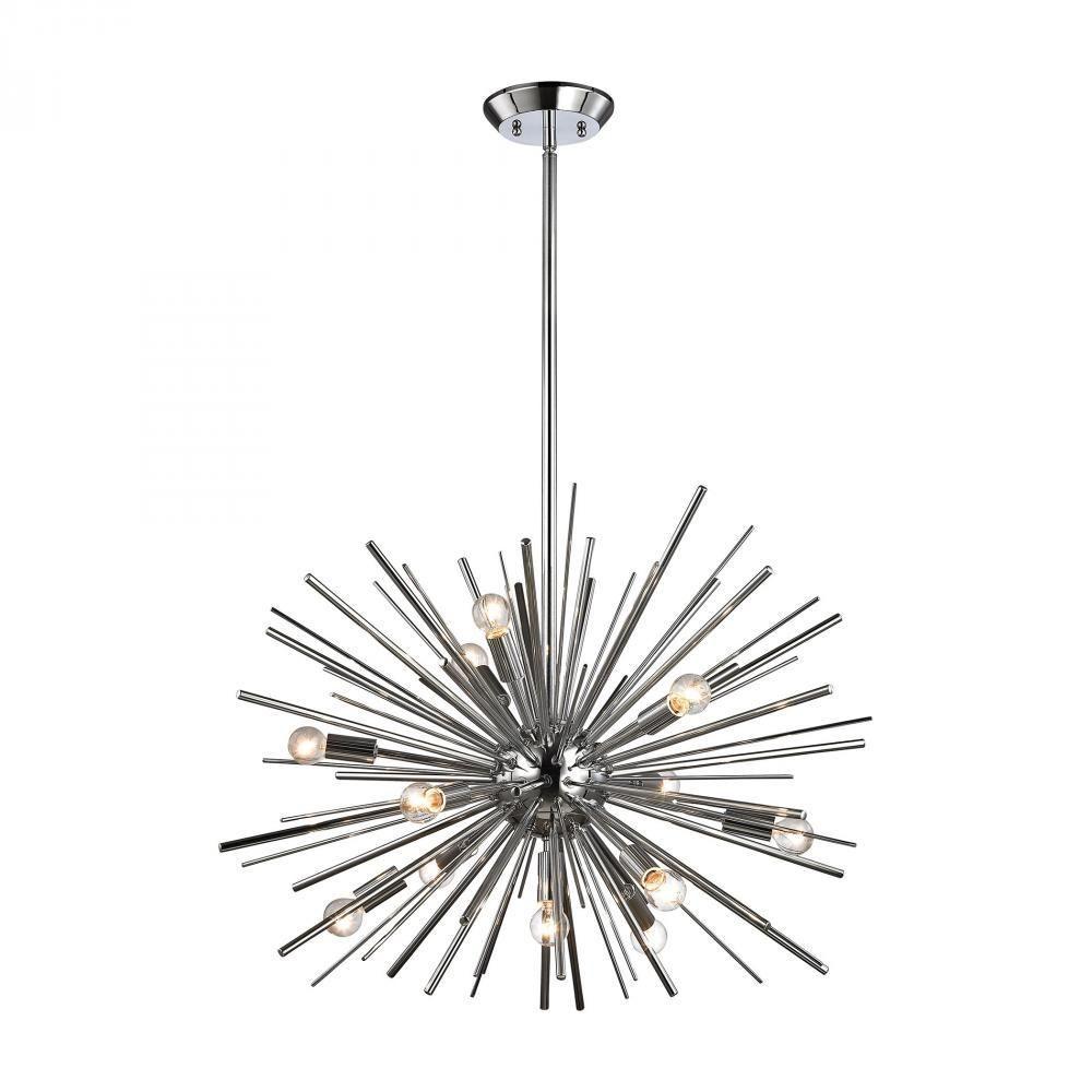 Dimond Starburst Polished Chrome Pendant Light 1140 024 Pertaining To Vroman 12 Light Sputnik Chandeliers (Gallery 28 of 30)