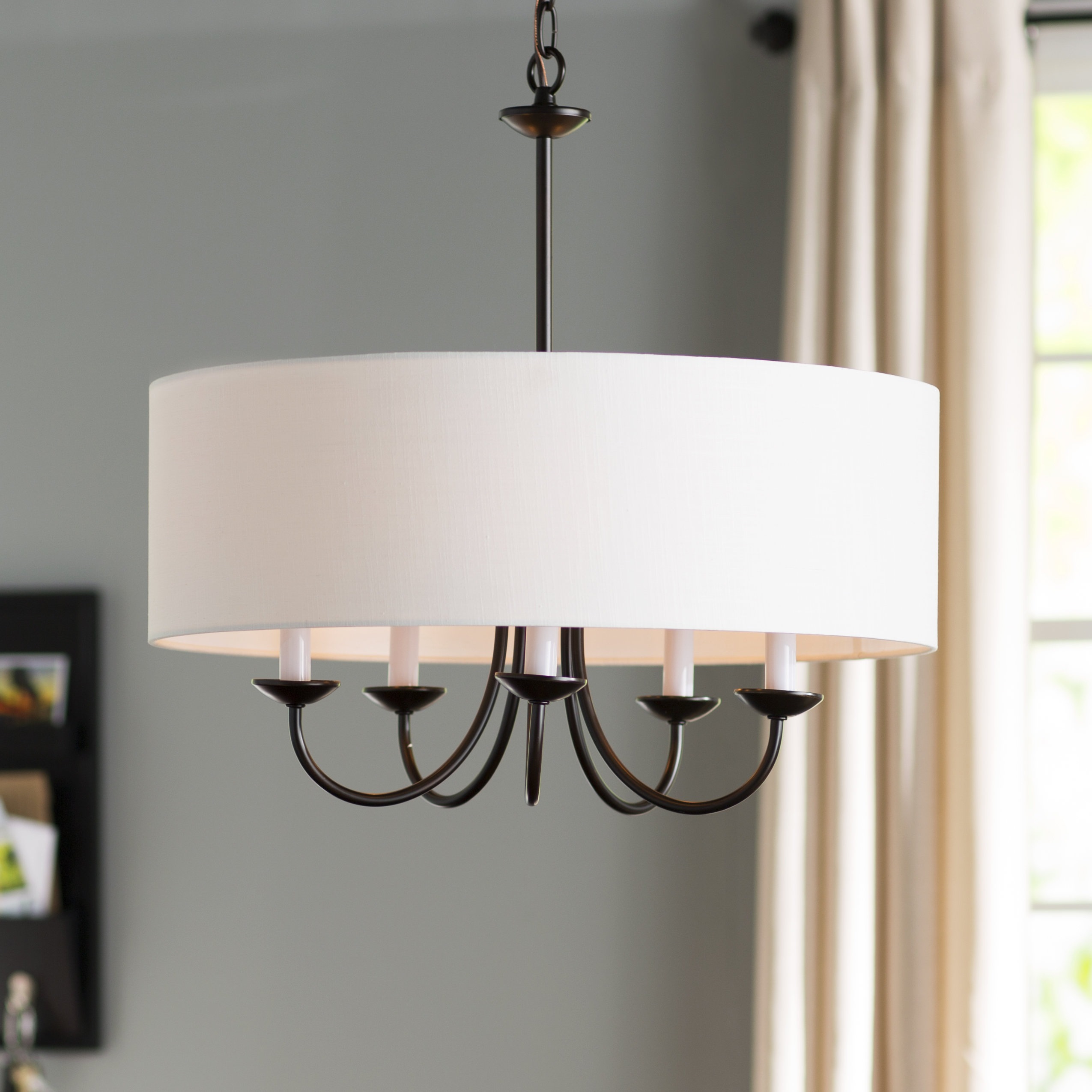 Dining Room Drum Chandelier | Wayfair With Regard To Breithaup 4 Light Drum Chandeliers (Photo 17 of 30)