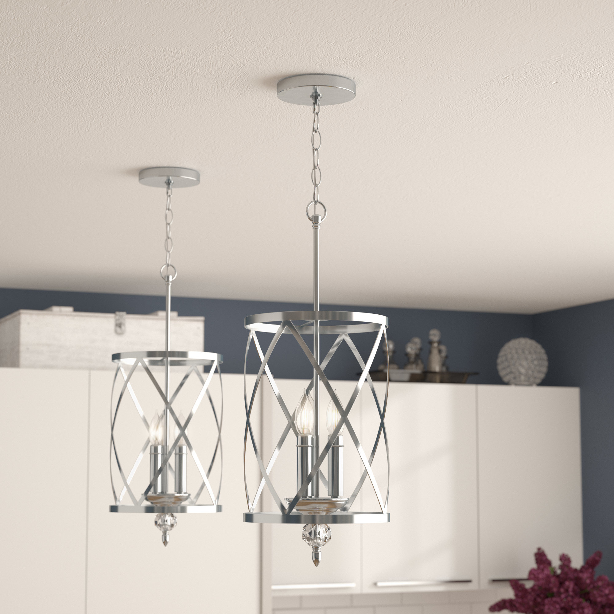 Dirksen 3 Light Lantern Pendant Pertaining To Dirksen 3 Light Single Cylinder Chandeliers (Photo 2 of 30)