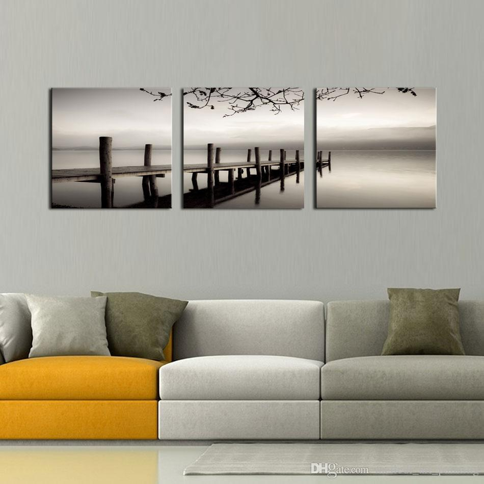 Discount Three Panel Artwork | Three Panel Artwork 2019 On Intended For 1 Piece Ortie Panel Wall Decor (View 14 of 30)