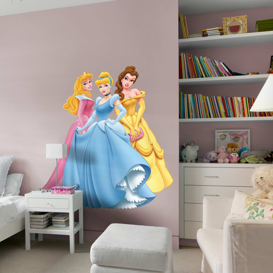 Disney Princess: Aurora, Cinderella & Belle - Huge Officially Licensed  Removable Wall Decal for Aurora Sun Wall Decor (Image 10 of 30)