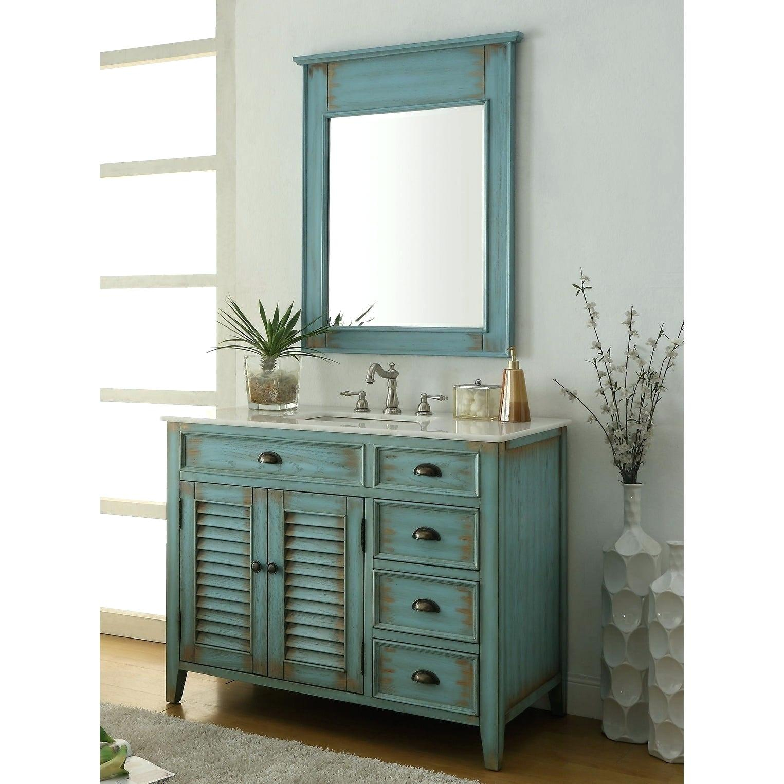 Distressed Bathroom Vanity – Vibgyorarts (View 9 of 30)