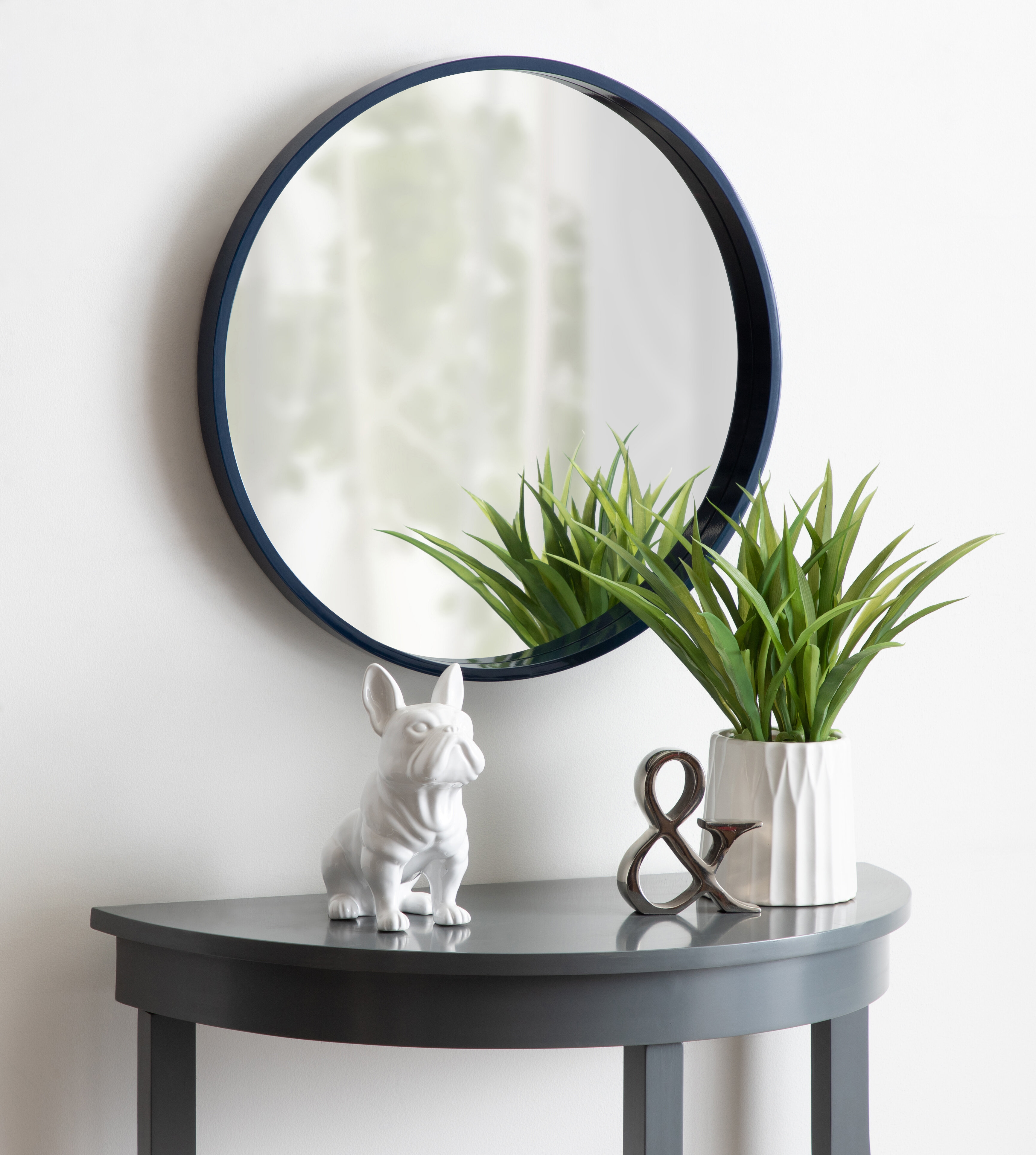 Distressed Blue Mirror | Wayfair Regarding Swagger Accent Wall Mirrors (Gallery 3 of 30)