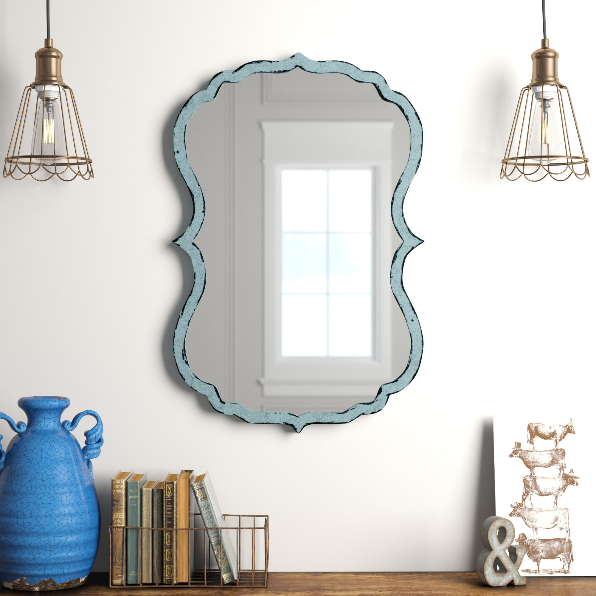 Distressed Driftwood Mirrors | Wayfair Pertaining To Alie Traditional Beveled Distressed Accent Mirrors (Gallery 27 of 30)
