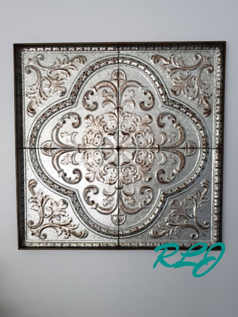 Distressed Old World European French Country Vintage Style Inside European Medallion Wall Decor (Photo 16 of 30)