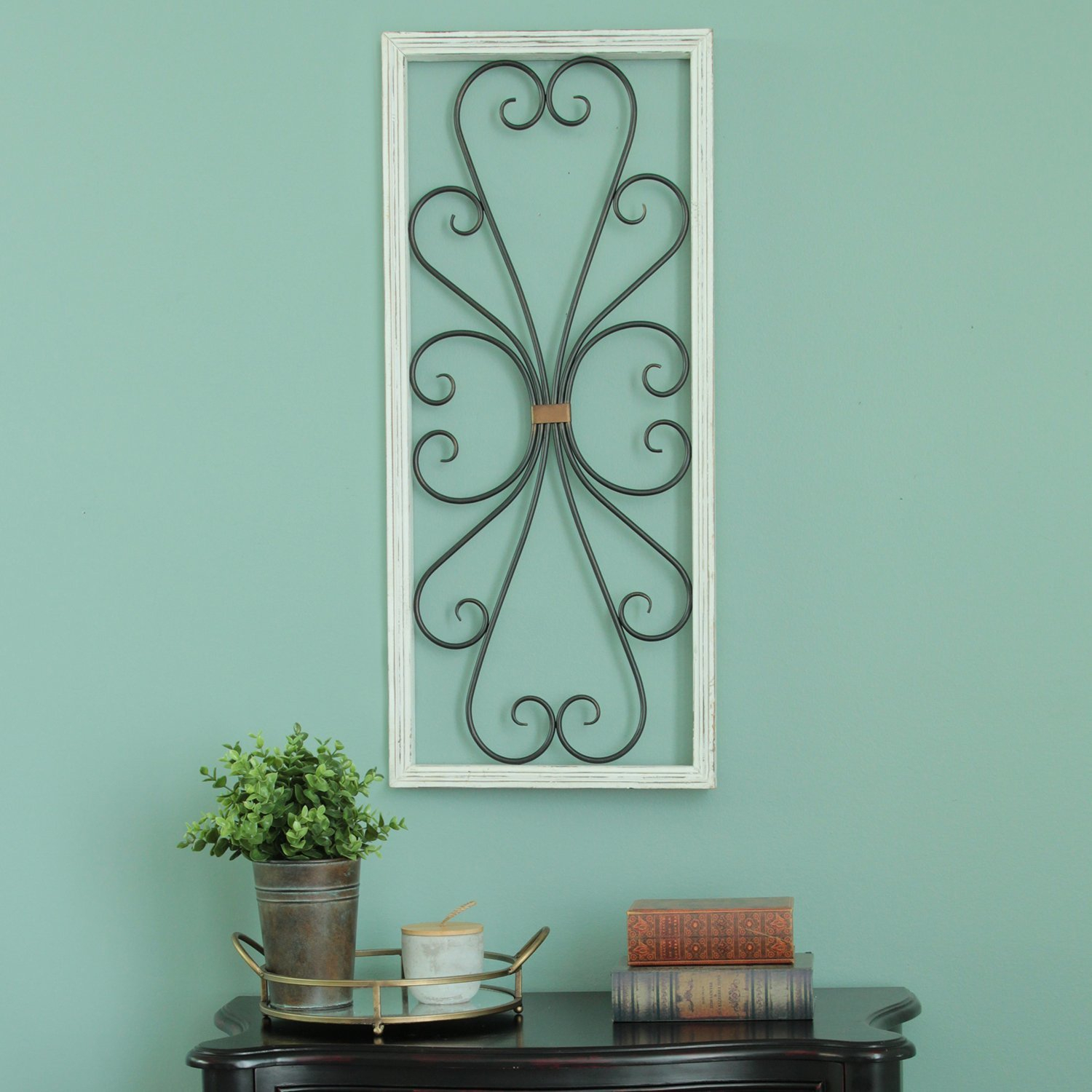 Distressed Scroll Panel Wall Décor Throughout Scroll Panel Wall Decor (View 4 of 30)