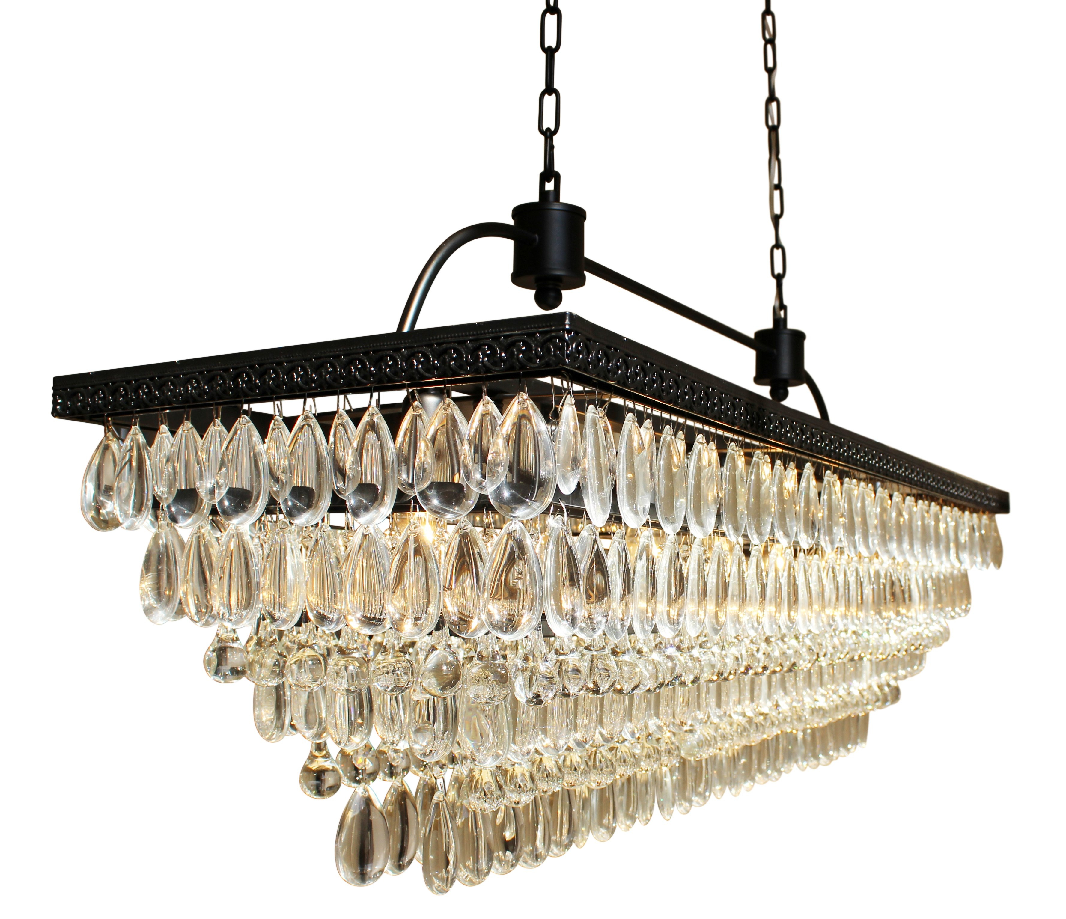 Dix 6 Light Crystal Chandelier With Regard To Whitten 4 Light Crystal Chandeliers (Photo 23 of 30)
