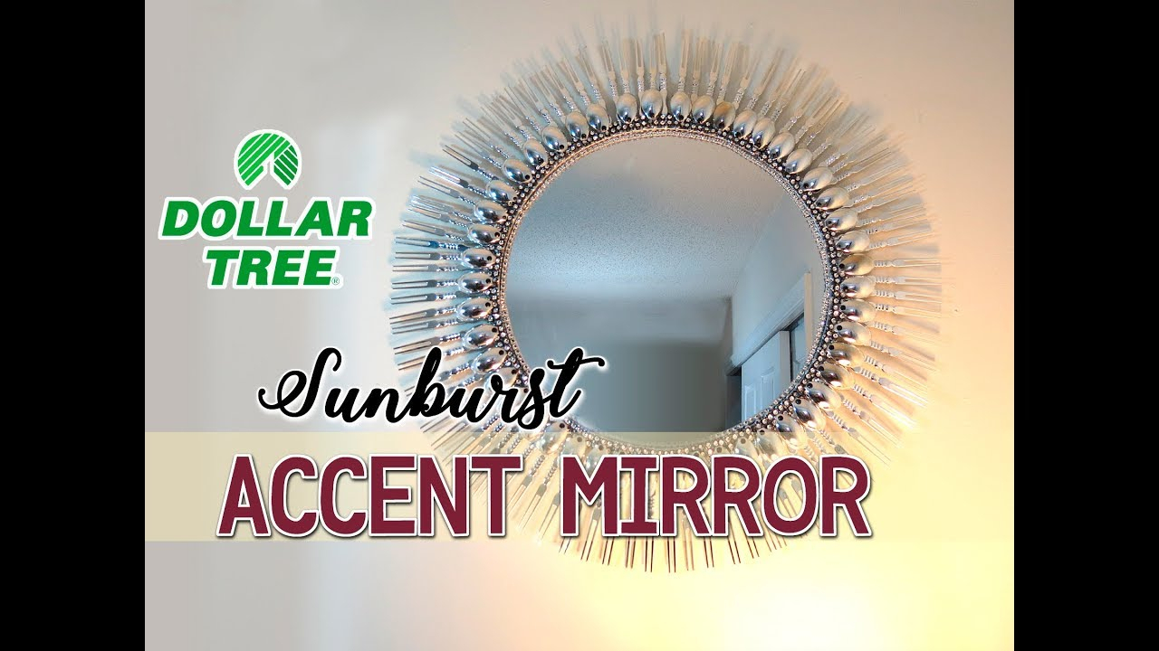 "Diy Dollar Tree 19"" Sunburst Accent Mirror – $12 Pertaining To Jarrod Sunburst Accent Mirrors (View 17 of 30)"