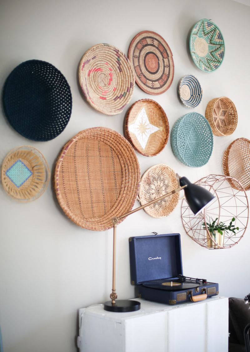 Diy Painted Baskets | Wall Art | Home Decor Baskets, Baskets For Dance Of Desire Wall Decor (Photo 22 of 30)