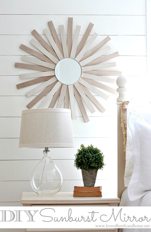Diy Sunburst Mirror – Love Of Family & Home Pertaining To Deniece Sunburst Round Wall Mirrors (View 7 of 30)