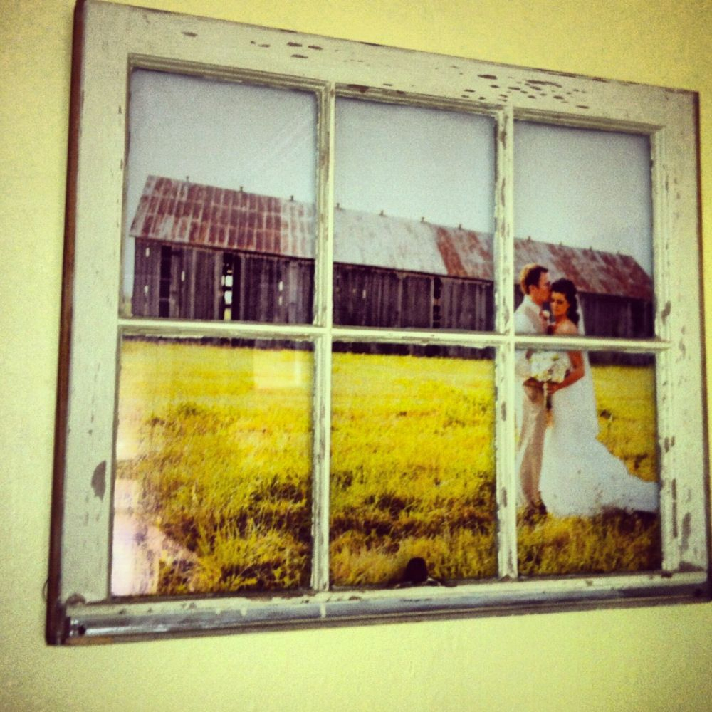 Diy – Vintage Window Pane Picture Frame | Window Art Pertaining To Old Rustic Barn Window Frame (Photo 22 of 30)