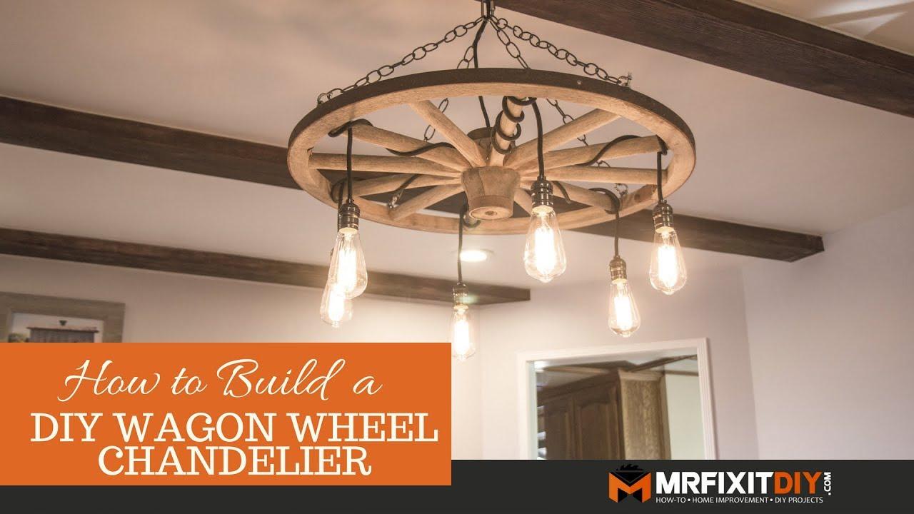 Diy Wagon Wheel Chandelier Throughout Pickensville 6 Light Wagon Wheel Chandeliers (Gallery 21 of 30)