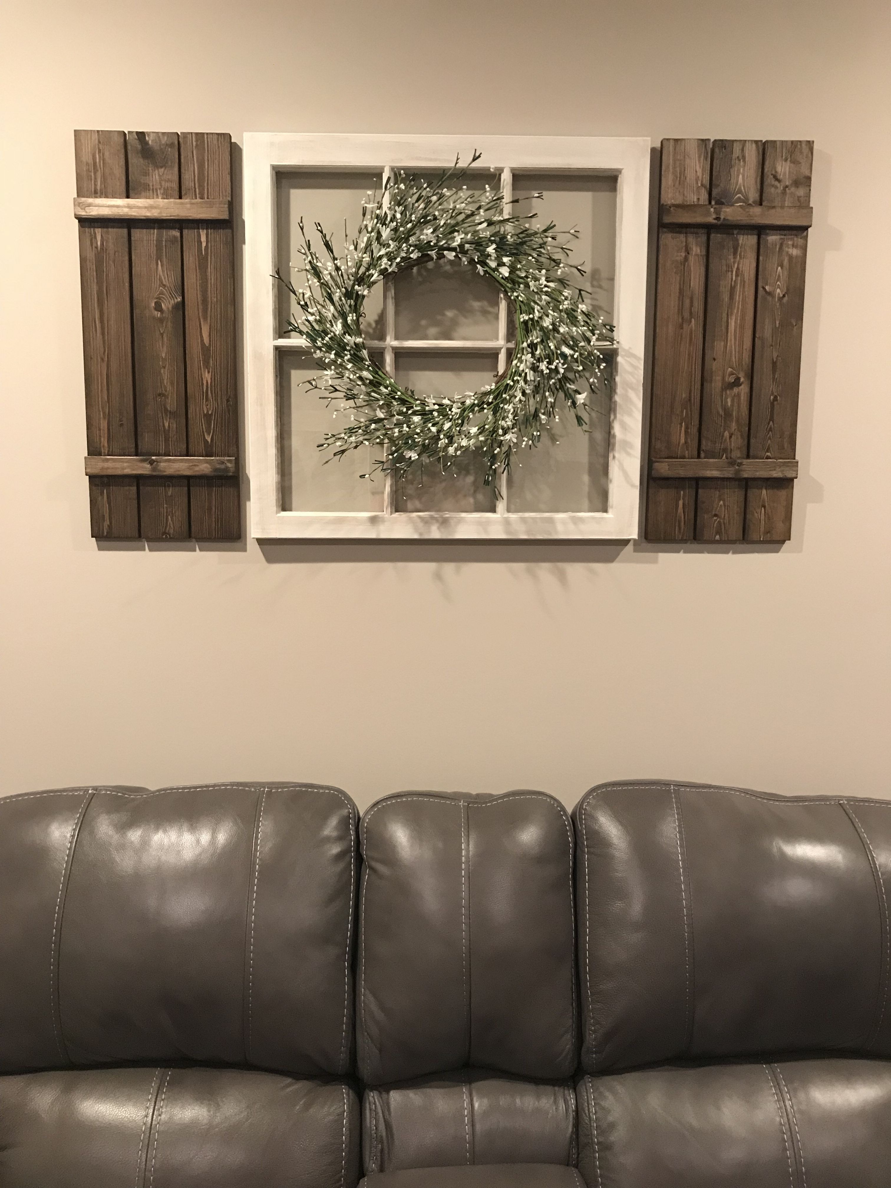 Diy Window Pane And Shutters Home Farmhouse Decor! | Home In With Shutter Window Hanging Wall Decor (View 16 of 30)
