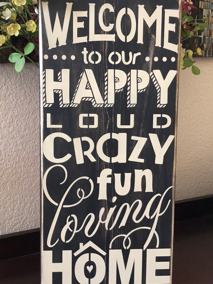 "Dj On Twitter: ""welcome To Our Happy Loud Crazy Fun Loving Regarding Tree Welcome Sign Wall Decor (Gallery 22 of 30)"