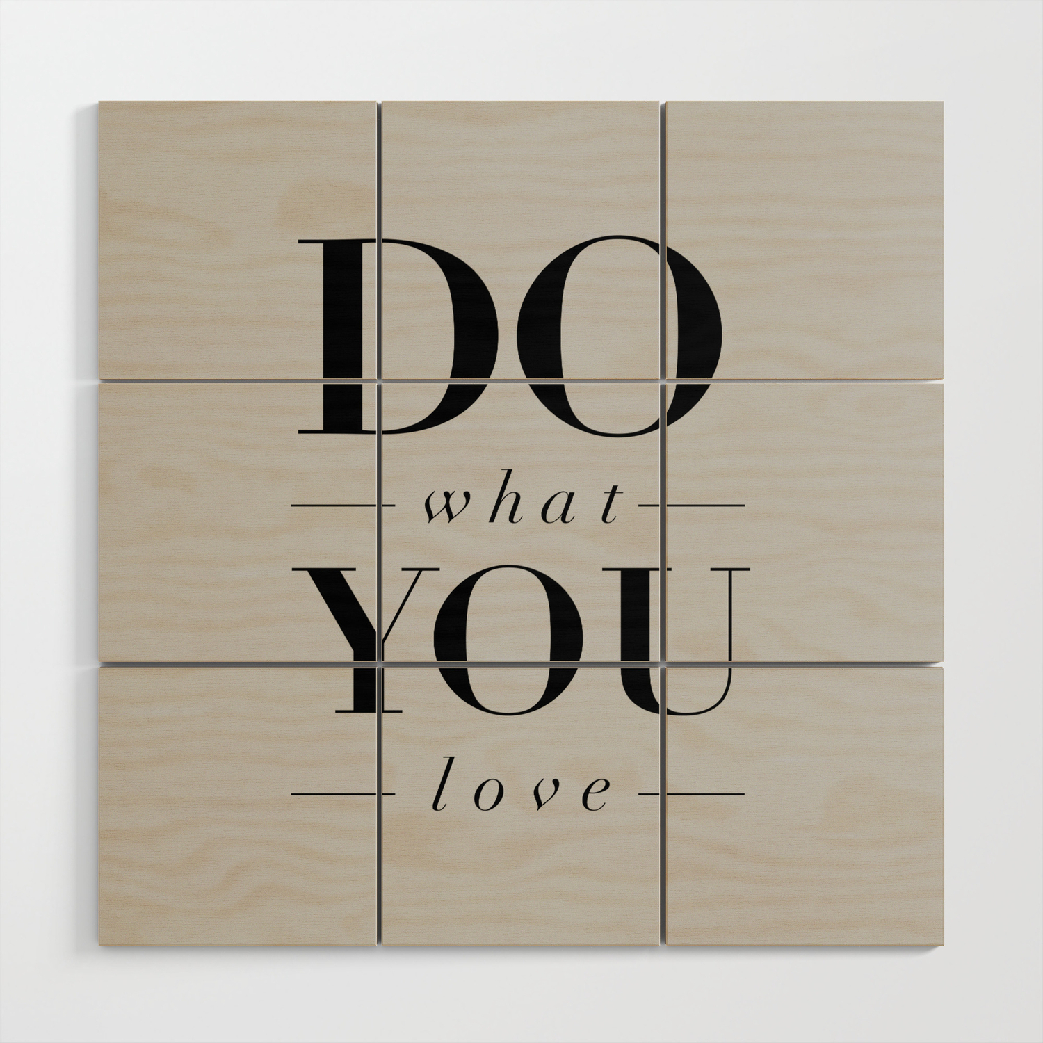Do What You Love Beautiful Inspirational Short Quote About Happiness And  Life Quotes Wood Wall Artthemotivatedtype Intended For Rectangle Like Yourself Inspirational Typography Wall Plaque (Photo 28 of 30)