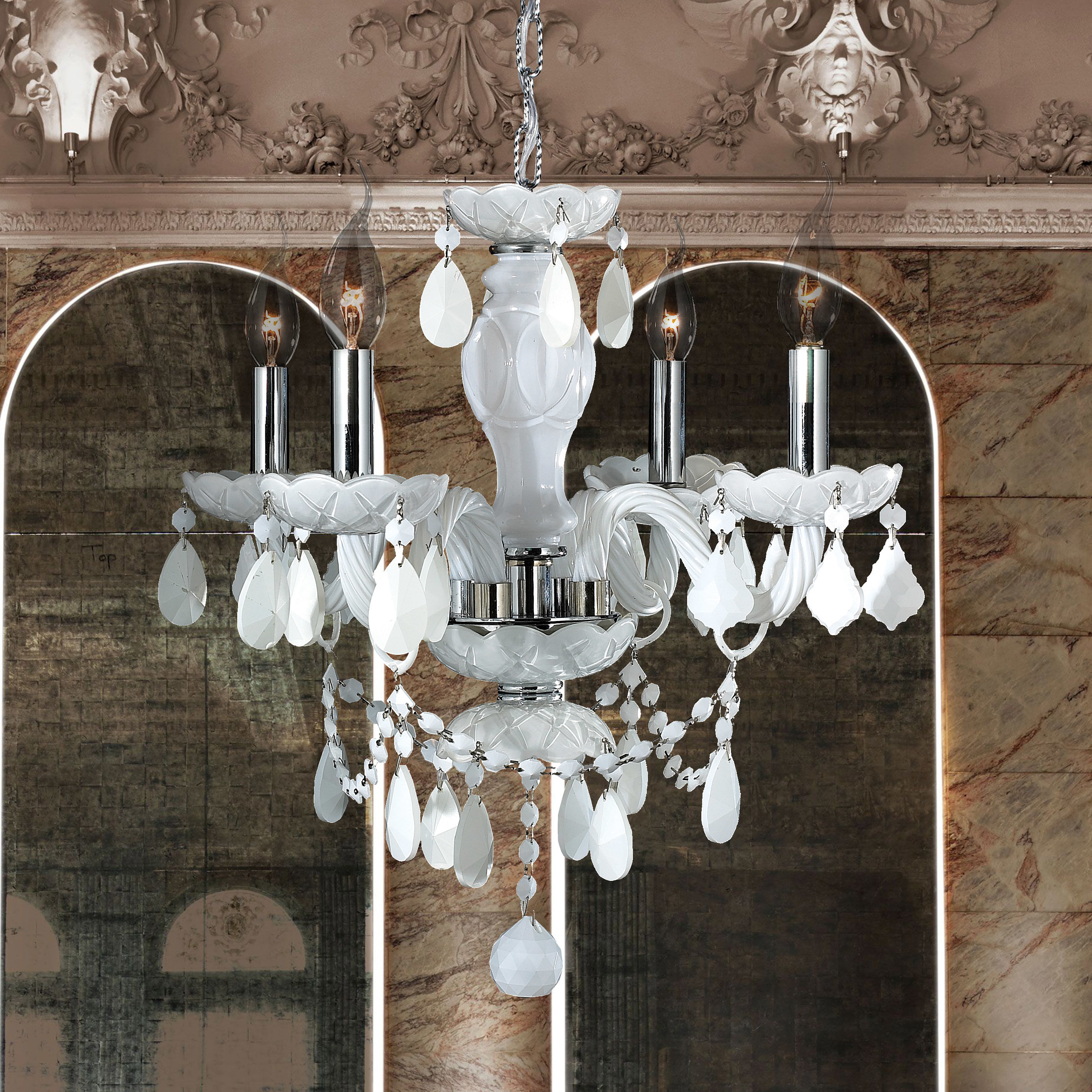 Doggett 4 Light Candle Style Chandelier With Regard To Aldora 4 Light Candle Style Chandeliers (View 10 of 30)