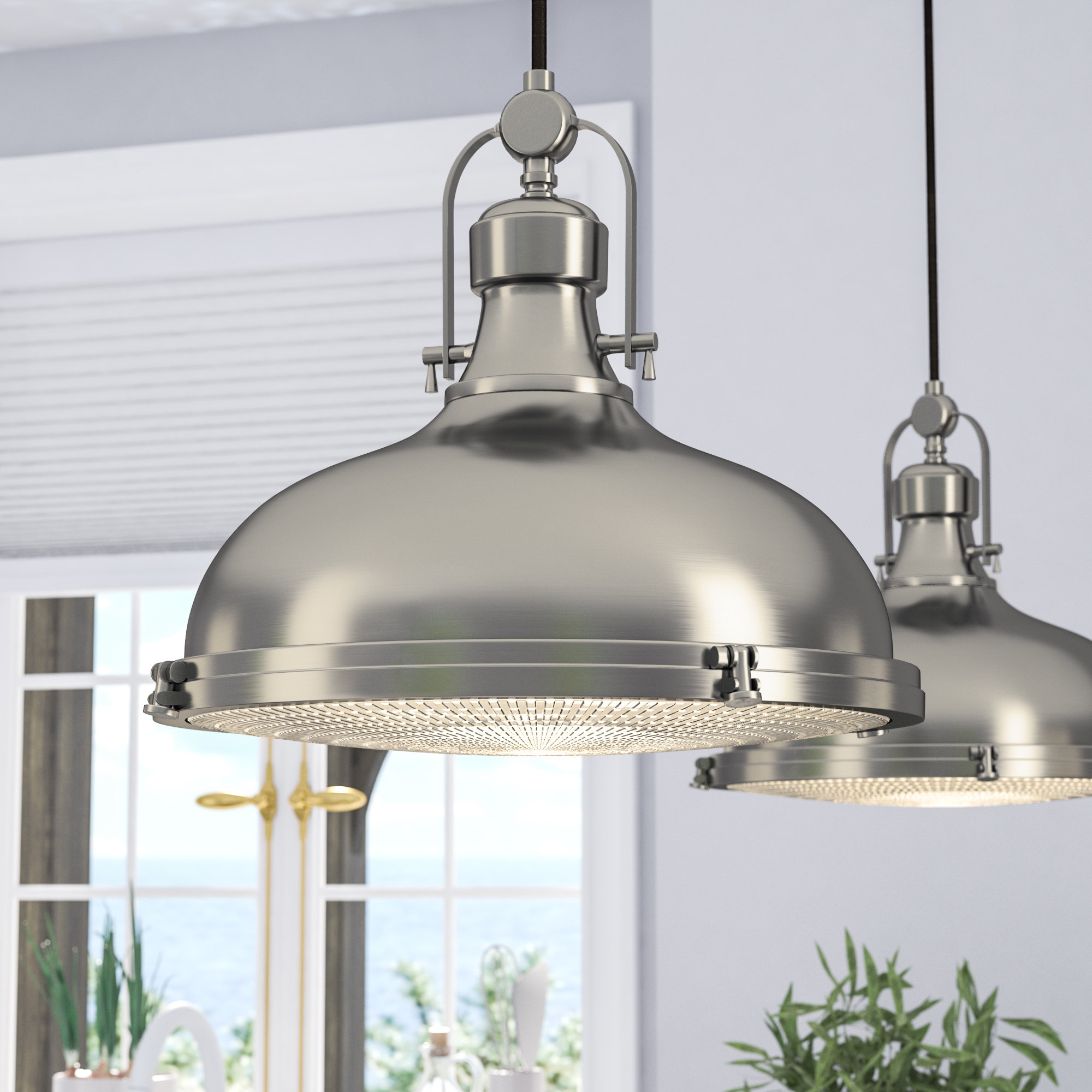 Dome Metal Pendant Lighting You'll Love In 2019 | Wayfair With Monadnock 1 Light Single Dome Pendants (Photo 14 of 30)