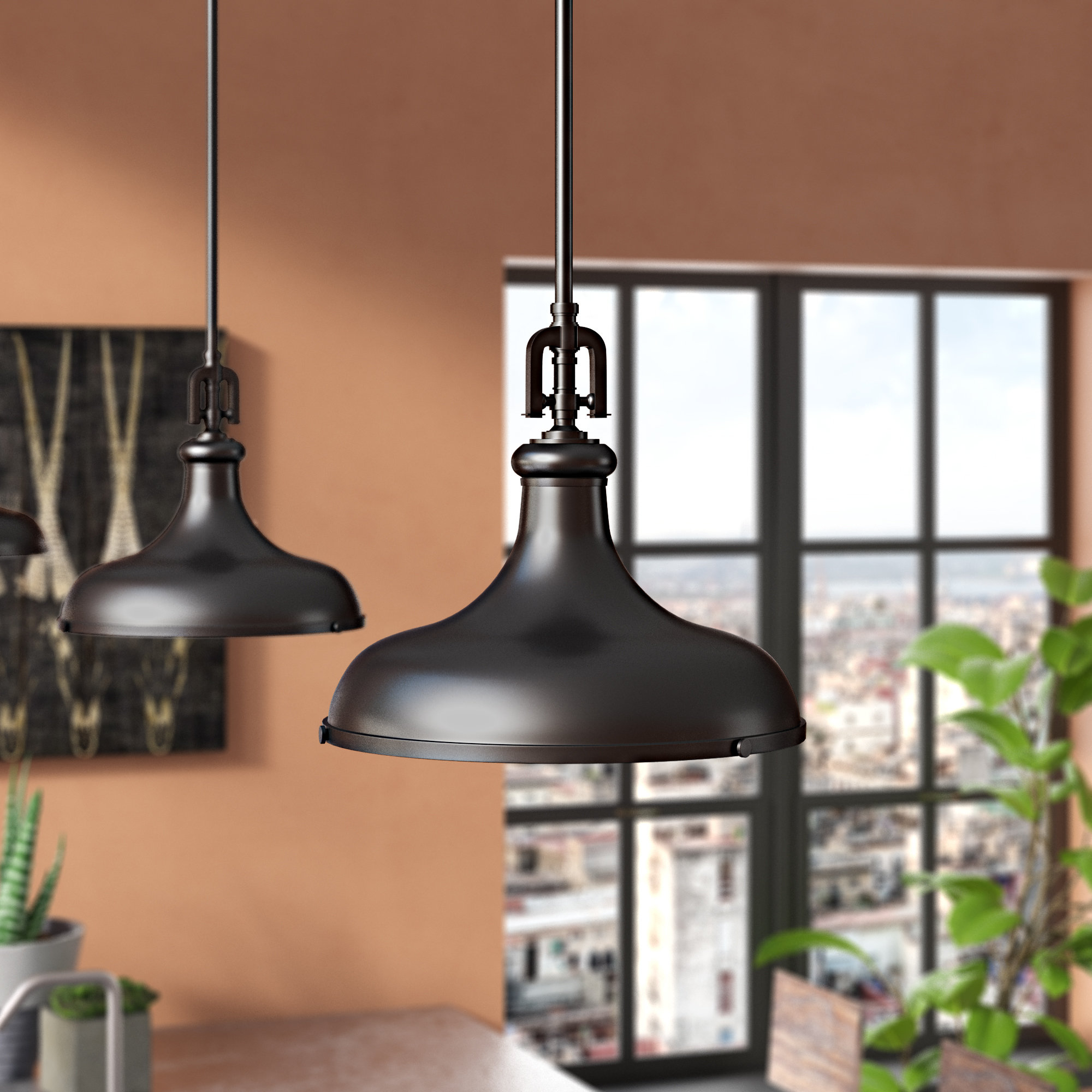 Dome Mini Pendants You'll Love | Wayfair.ca for Abernathy 1-Light Dome Pendants (Image 15 of 30)