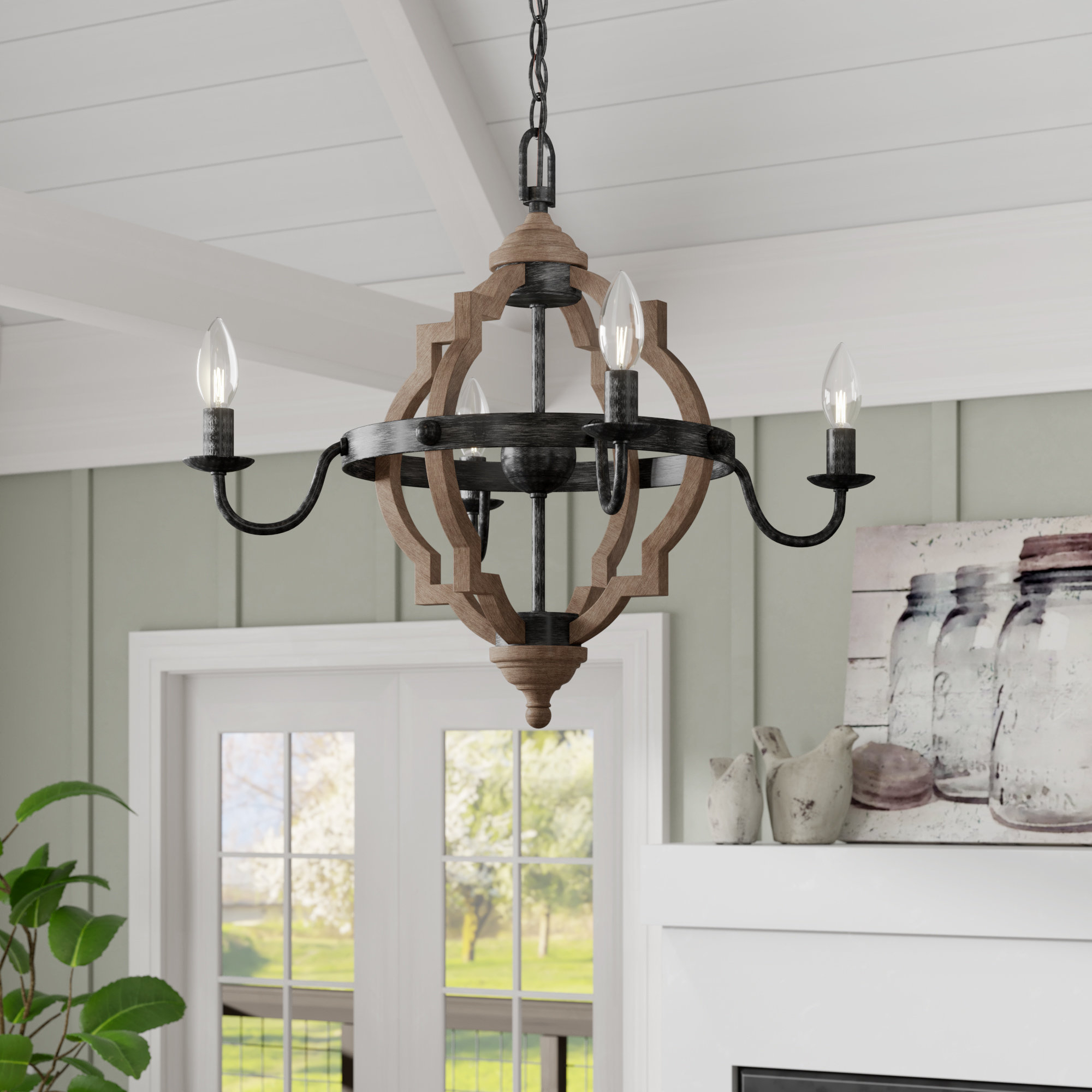 Donna 4 Light Candle Style Chandelier Pertaining To Freemont 5 Light Kitchen Island Linear Chandeliers (Gallery 27 of 30)