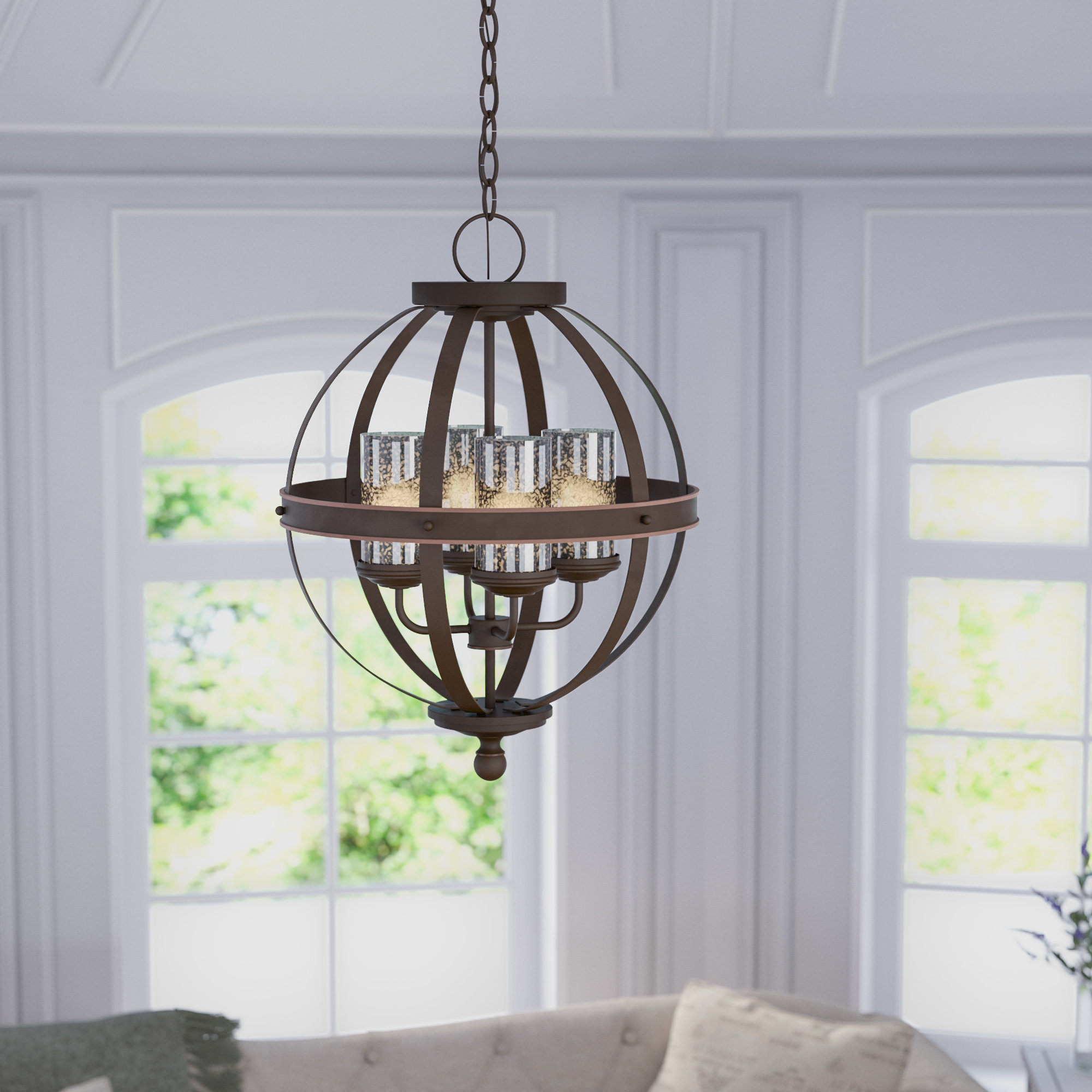 Donna 4-Light Globe Chandelier with regard to Joon 6-Light Globe Chandeliers (Image 5 of 30)