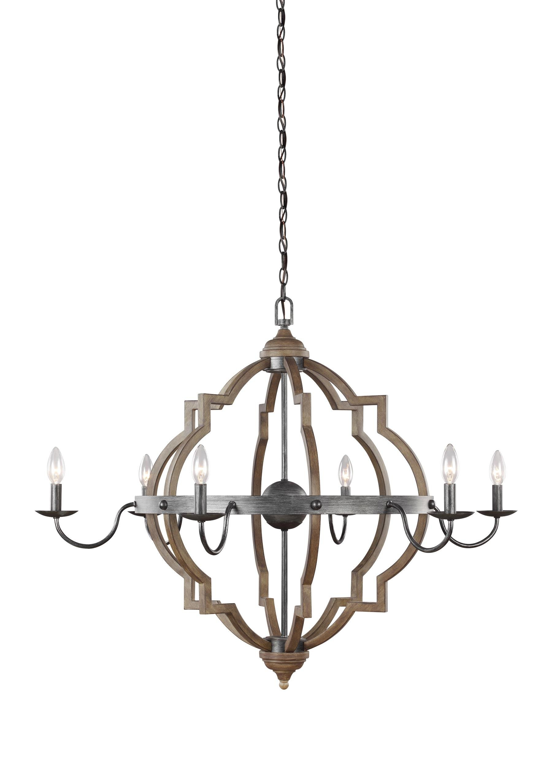 Donna 6 Light Candle Style Chandelier In Donna 6 Light Globe Chandeliers (Gallery 2 of 30)