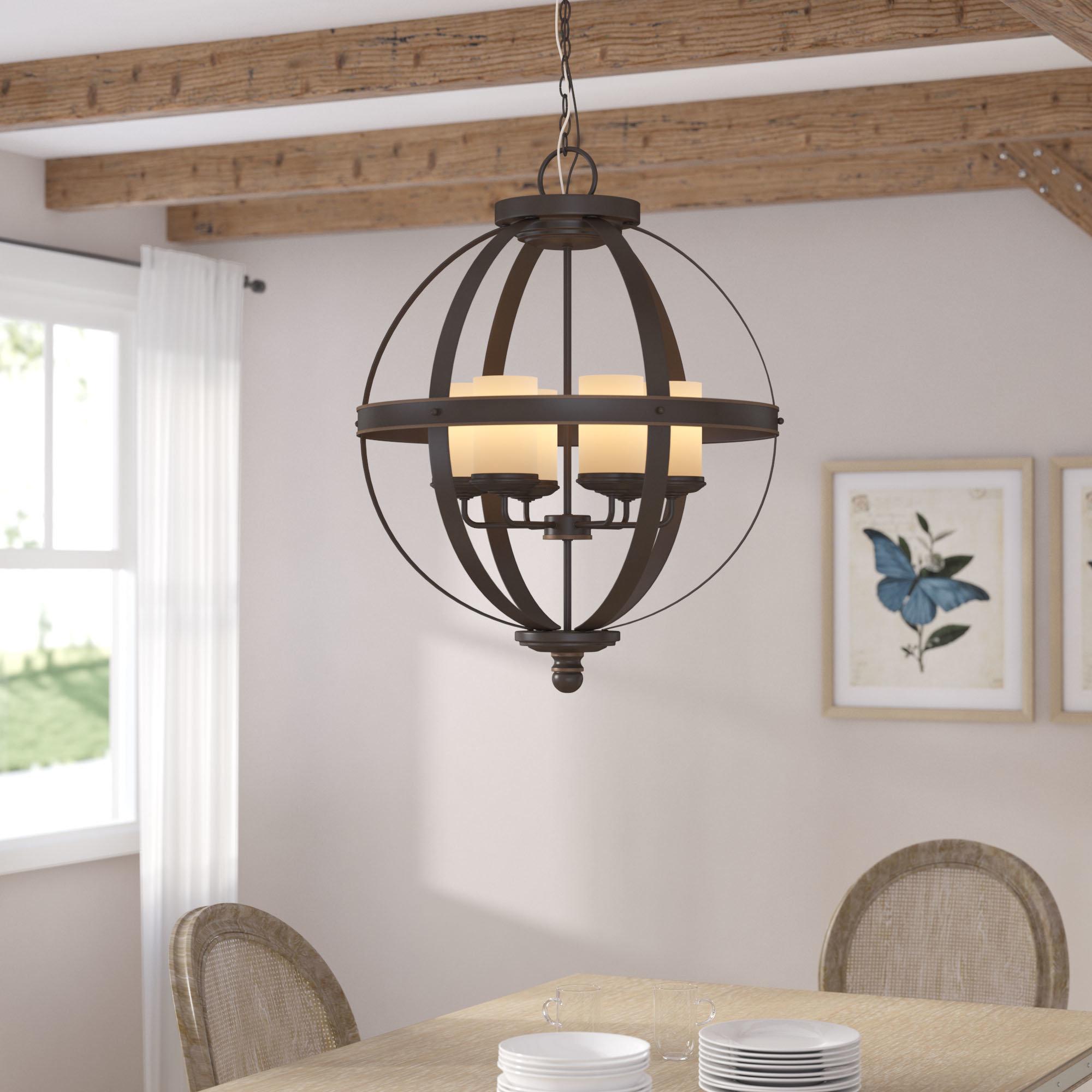 Donna 6-Light Globe Chandelier with regard to Donna 6-Light Globe Chandeliers (Image 11 of 30)