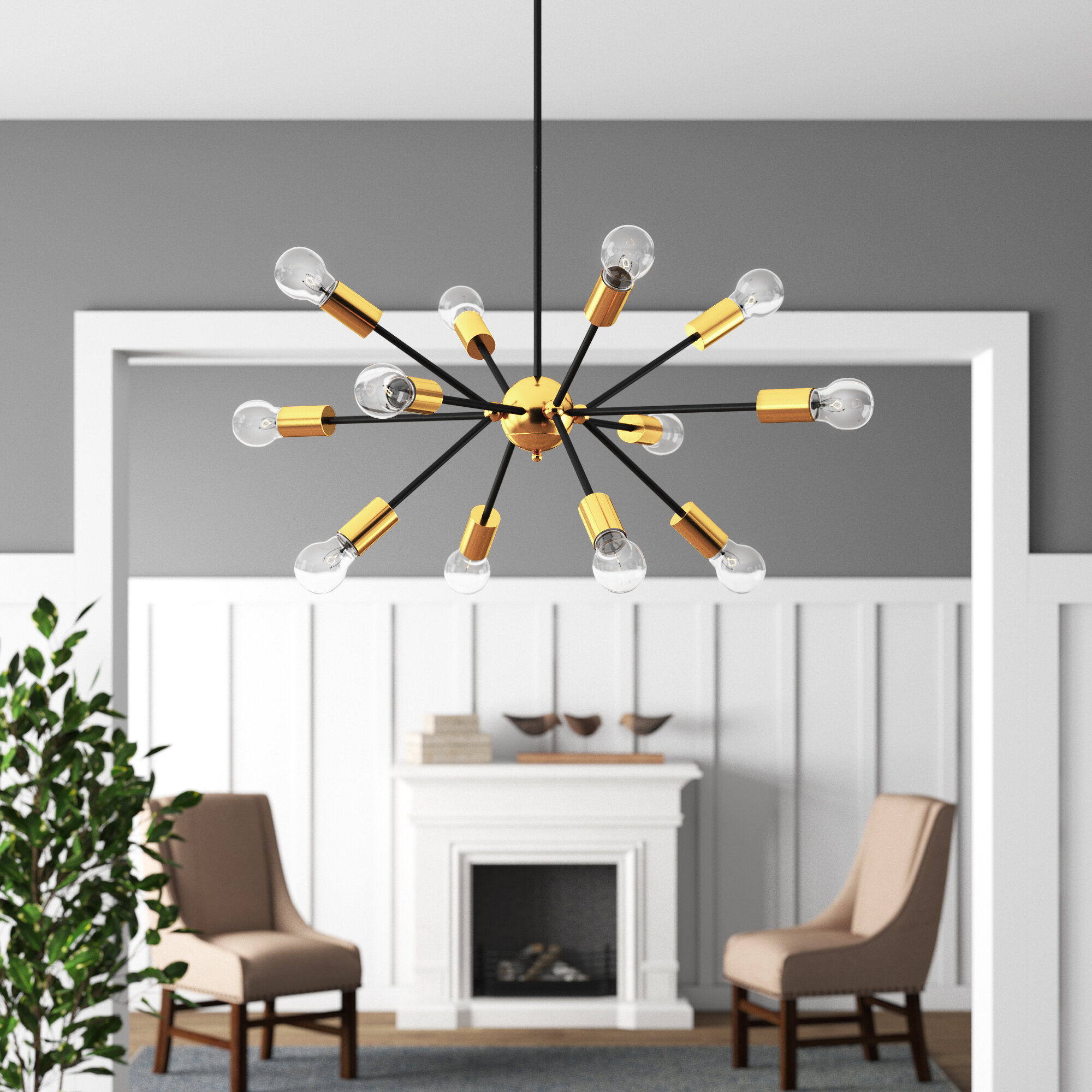 Dorcia 12 Light Sputnik Chandelier Regarding Vroman 12 Light Sputnik Chandeliers (View 5 of 30)