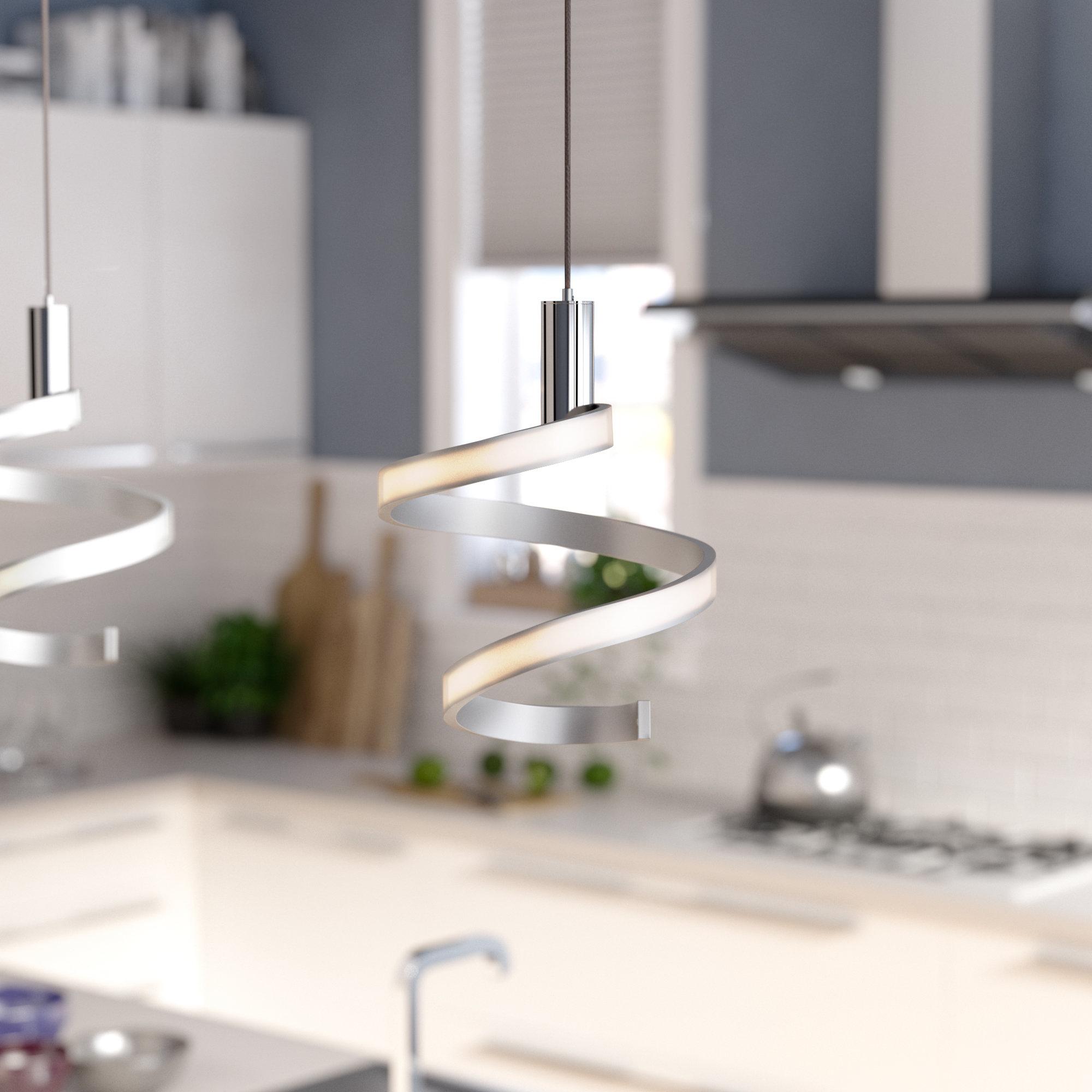 Dormer 1-Light Led Novelty Pendant intended for Callington 1-Light Led Single Geometric Pendants (Image 14 of 30)