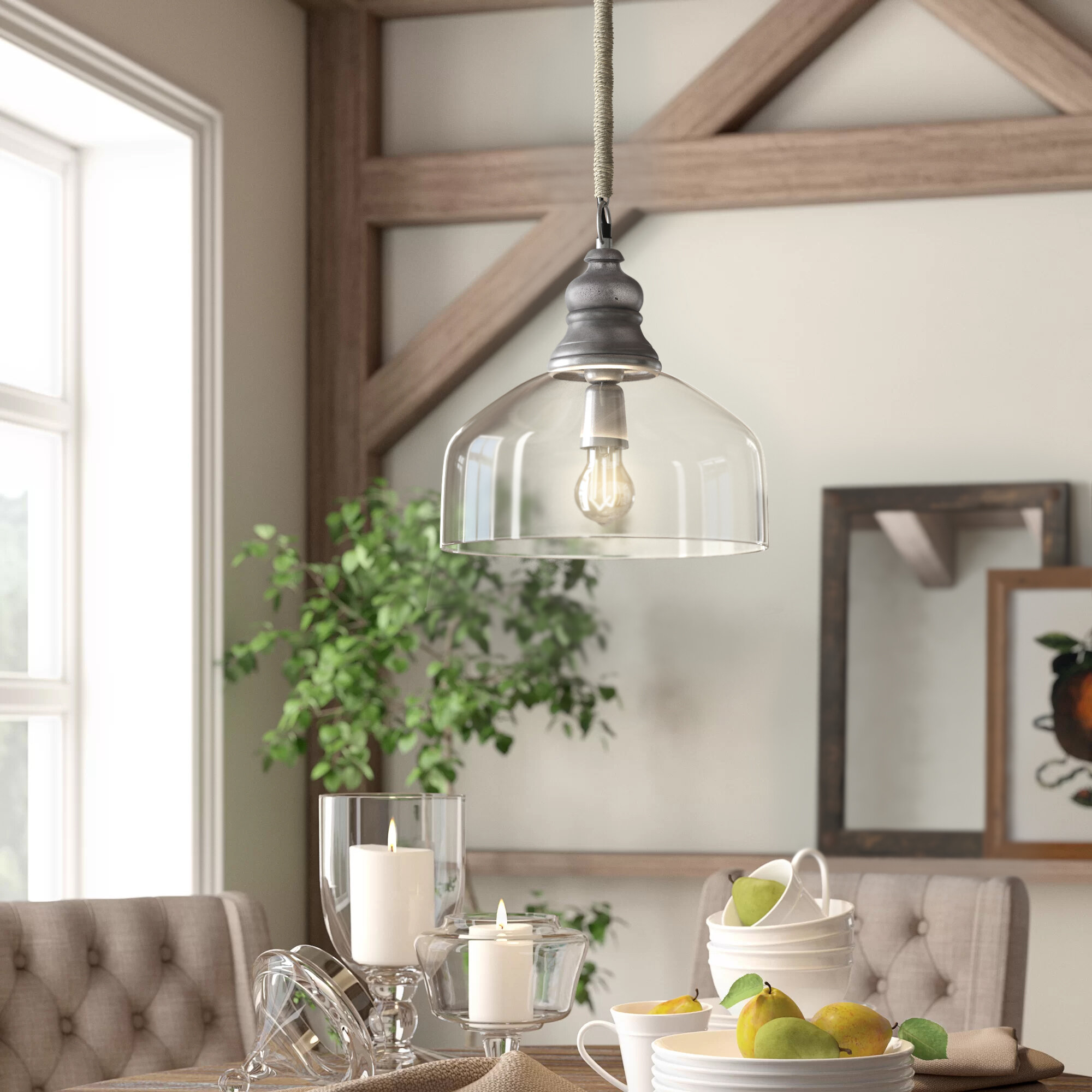 Dorothea 1 Light Single Dome Pendant Intended For Abordale 1 Light Single Dome Pendants (Photo 10 of 30)