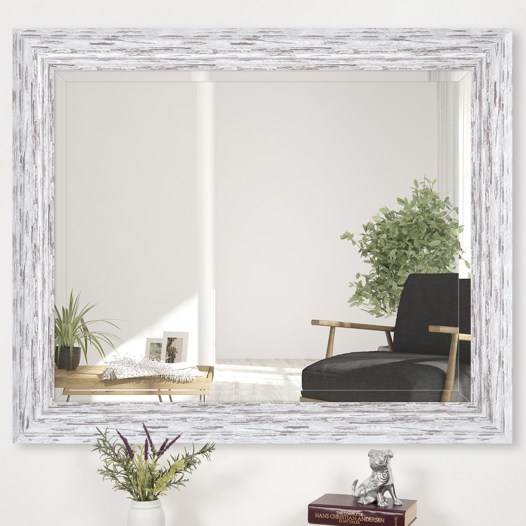 Dorothea Scoop Framed Beveled Accent Mirror for Minerva Accent Mirrors (Image 6 of 30)