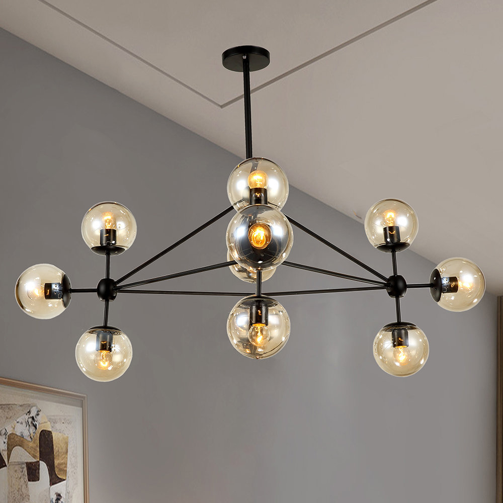 Dortch 10-Light Sputnik Chandelier with Asher 12-Light Sputnik Chandeliers (Image 13 of 30)