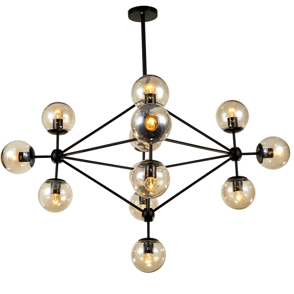 Dortch 15-Light Sputnik Chandelier inside Asher 12-Light Sputnik Chandeliers (Image 14 of 30)