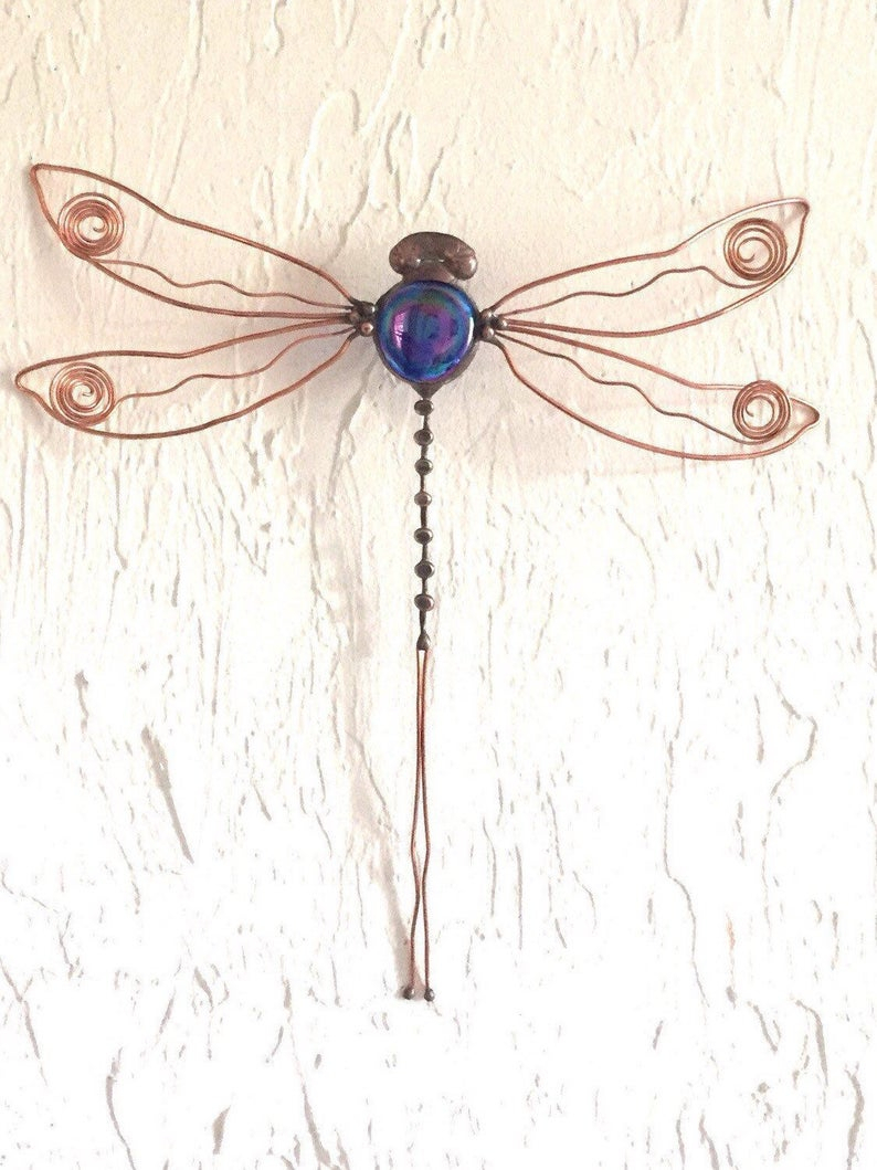 Dragonfly Wall Decor, Glass, Copper, Wall Art, With Dragonfly Wall Decor (Photo 20 of 30)