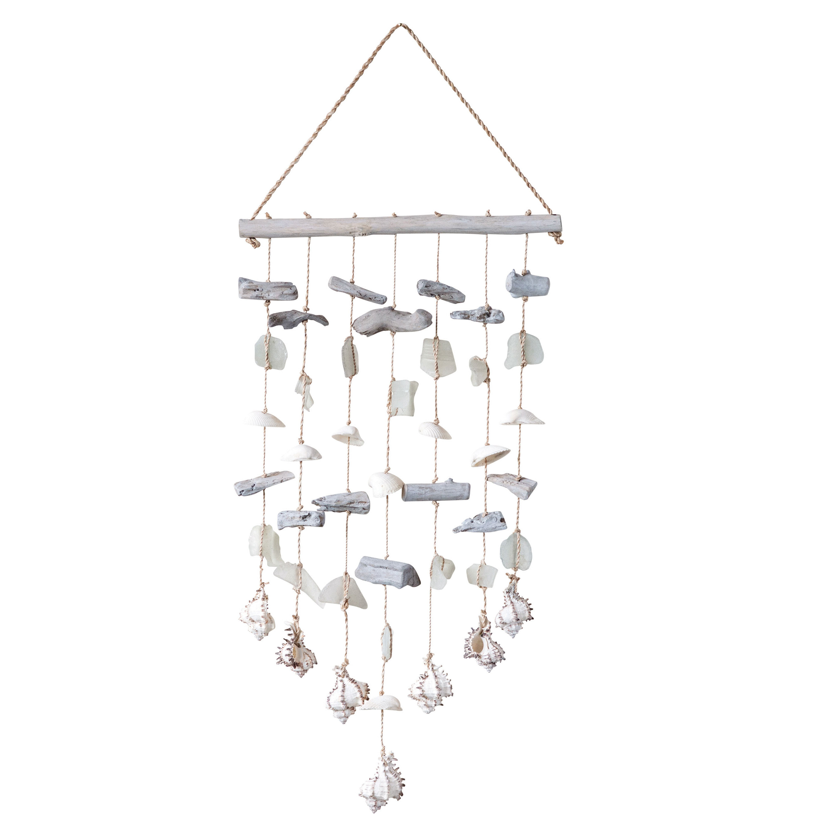 Driftwood With Shells & Sea Glass Beads Wall Décor within Mariposa 9 Piece Wall Decor (Image 9 of 30)
