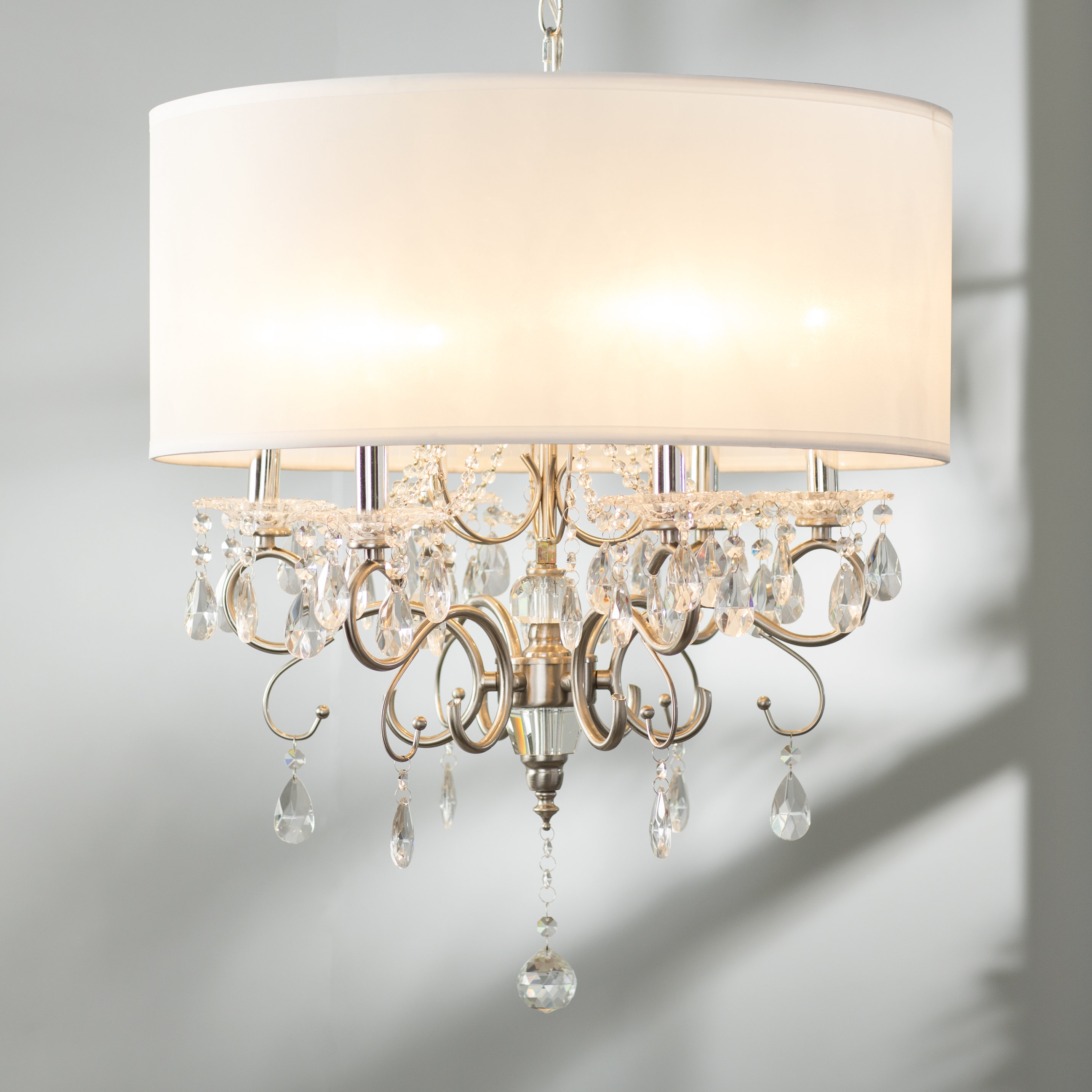 Drum Chandeliers Sale   Up To 65% Off Until September 30Th Pertaining To Lindsey 4 Light Drum Chandeliers (Photo 28 of 30)