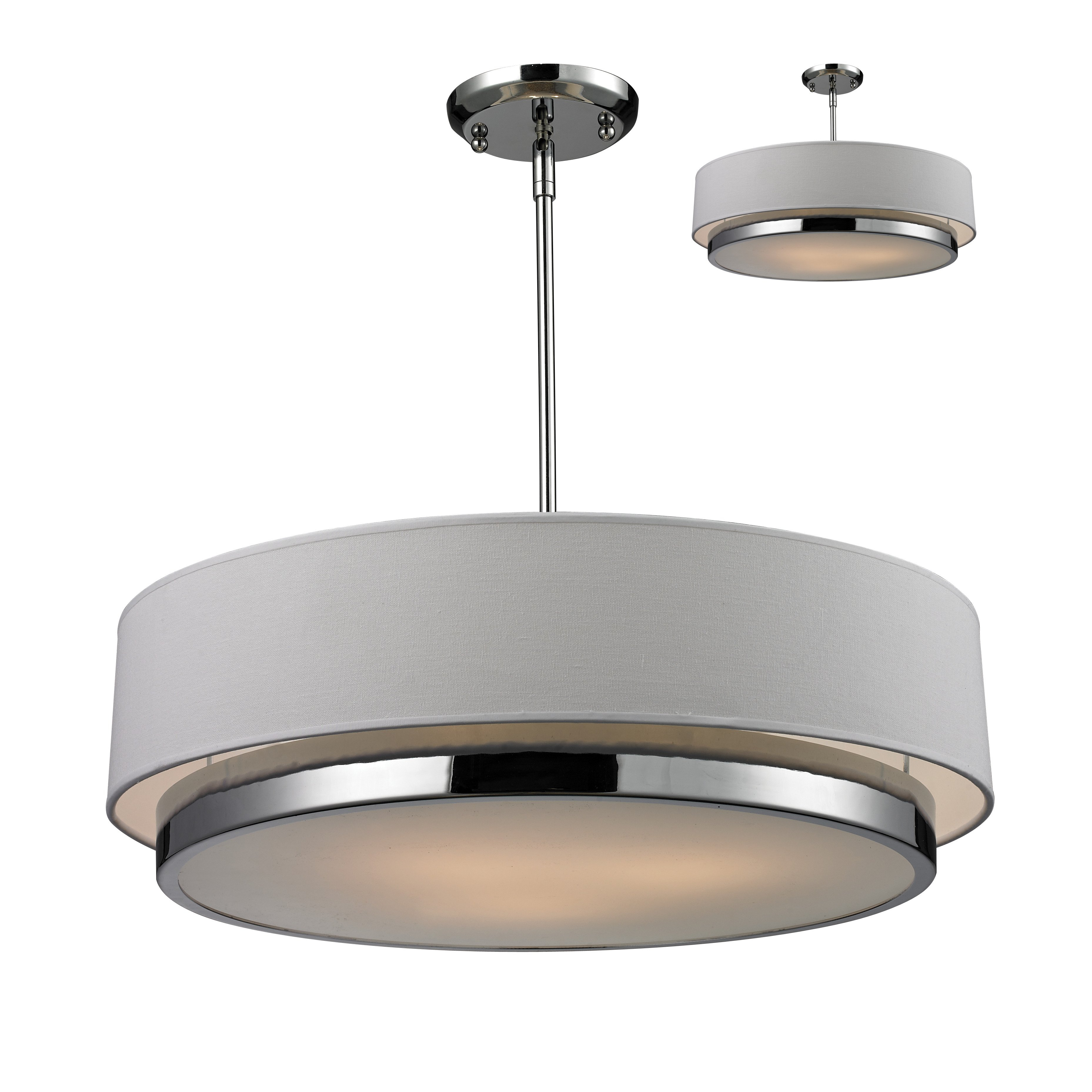Drum Pendant Lights In Burnished Silver Finish F2707 Hanging Intended For Tadwick 3 Light Single Drum Chandeliers (Photo 19 of 30)