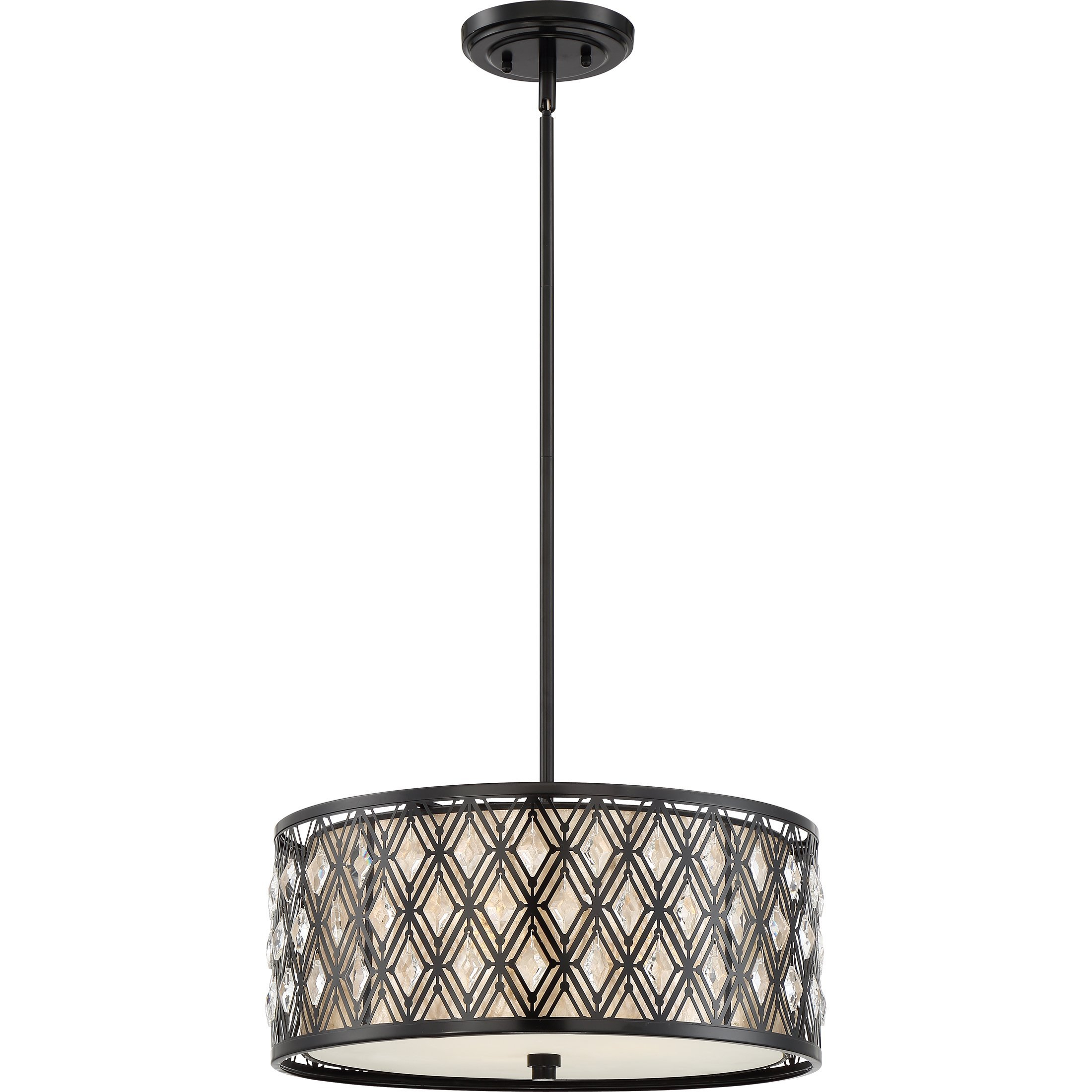 Drum Pendant Lights In Burnished Silver Finish F2707 Hanging Pertaining To Tadwick 3 Light Single Drum Chandeliers (Photo 24 of 30)