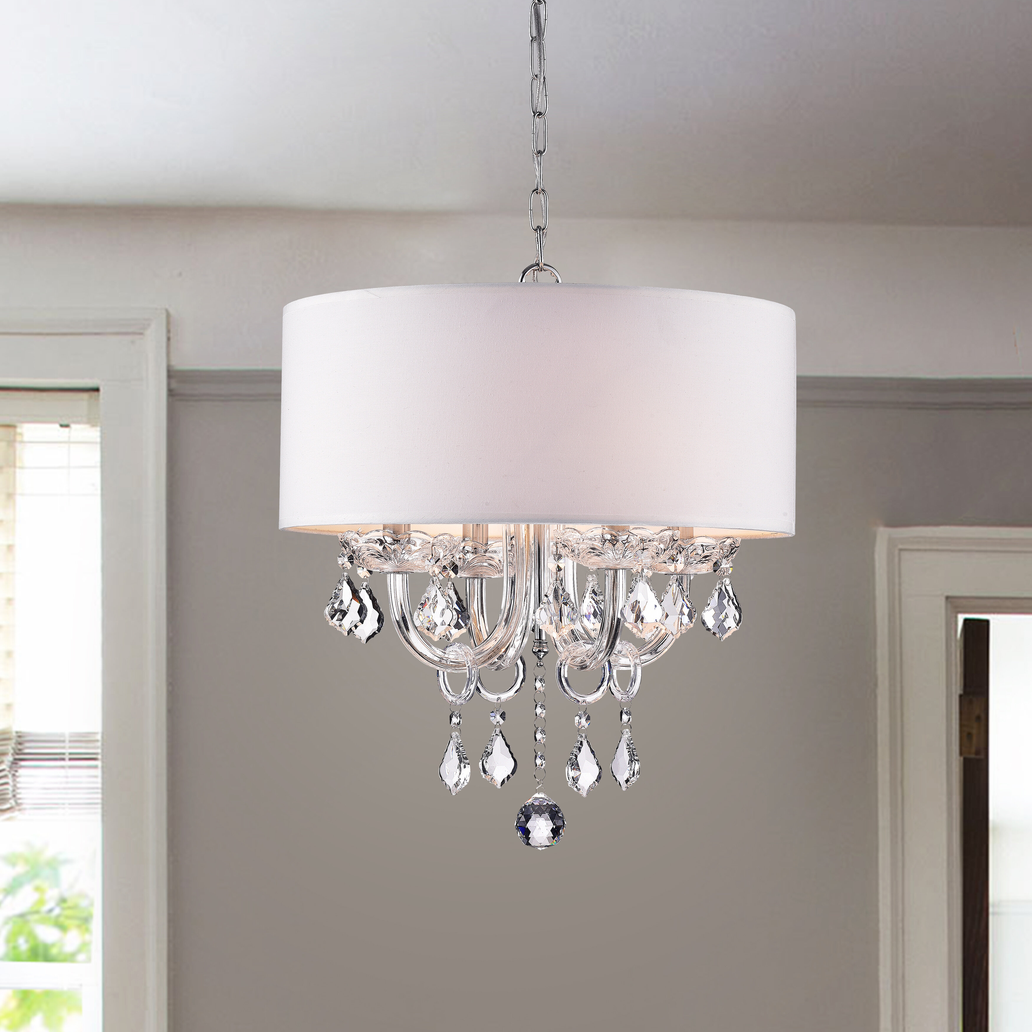 Dunaghy 4 Light Chandelier With Regard To Lindsey 4 Light Drum Chandeliers (Photo 6 of 30)