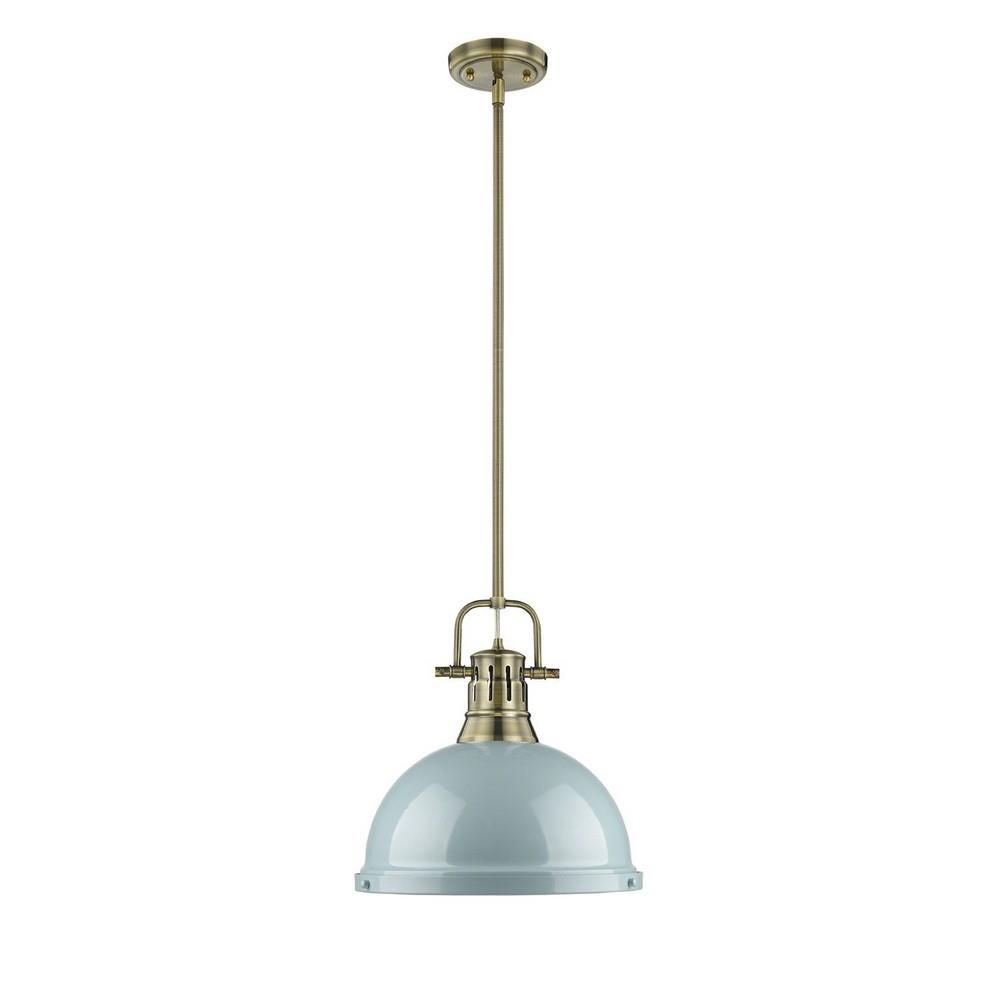 Duncan – One Light Rod Pendant | Client: Michelle & Frank M Regarding Adriana Black 1 Light Single Dome Pendants (Gallery 9 of 30)