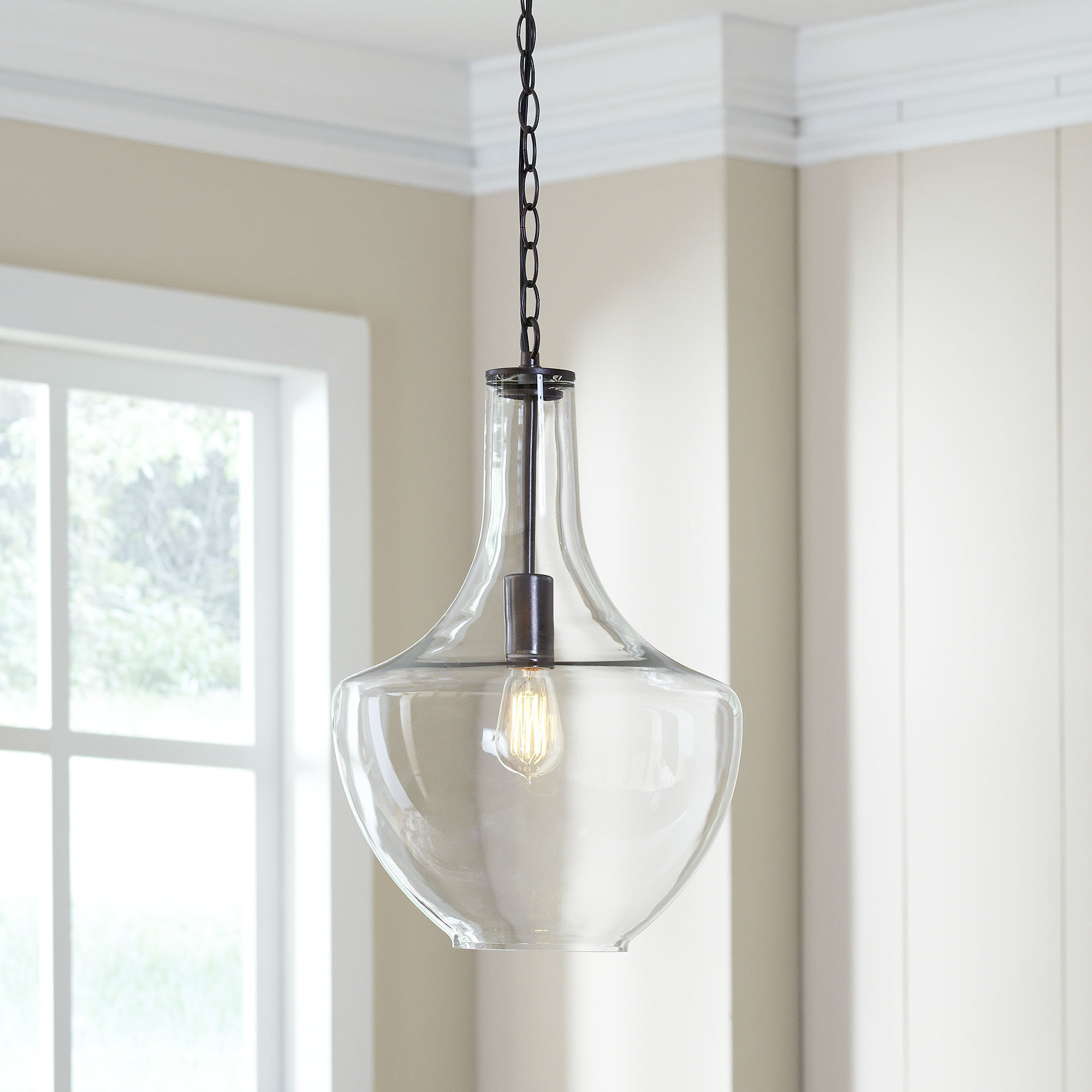Dunmore 1-Light Single Teardrop Pendant & Reviews | Joss & Main with 1-Light Single Teardrop Pendants (Image 15 of 30)