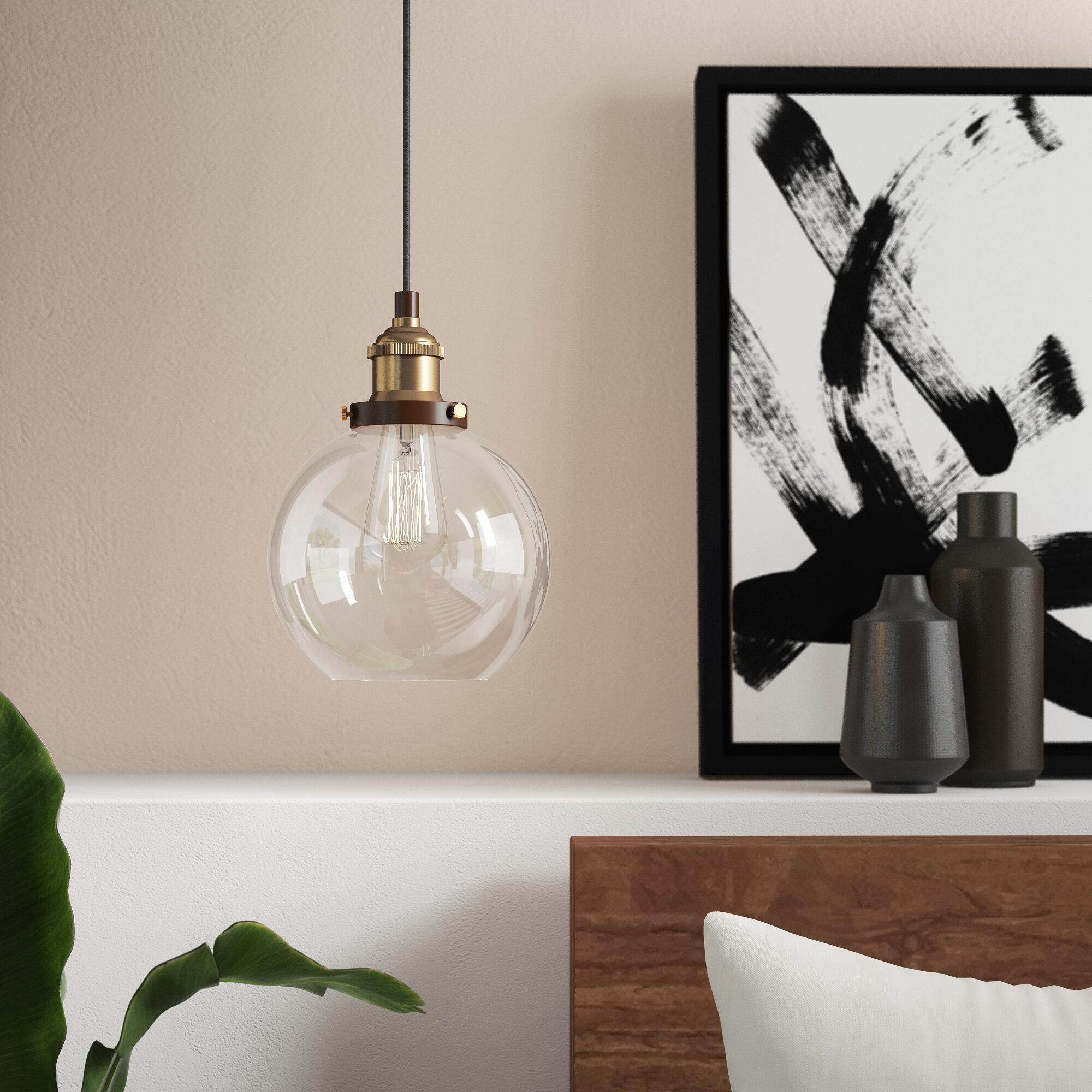 Dunneback 1 Light Single Globe Pendant Within Gehry 1 Light Single Globe Pendants (Gallery 6 of 30)