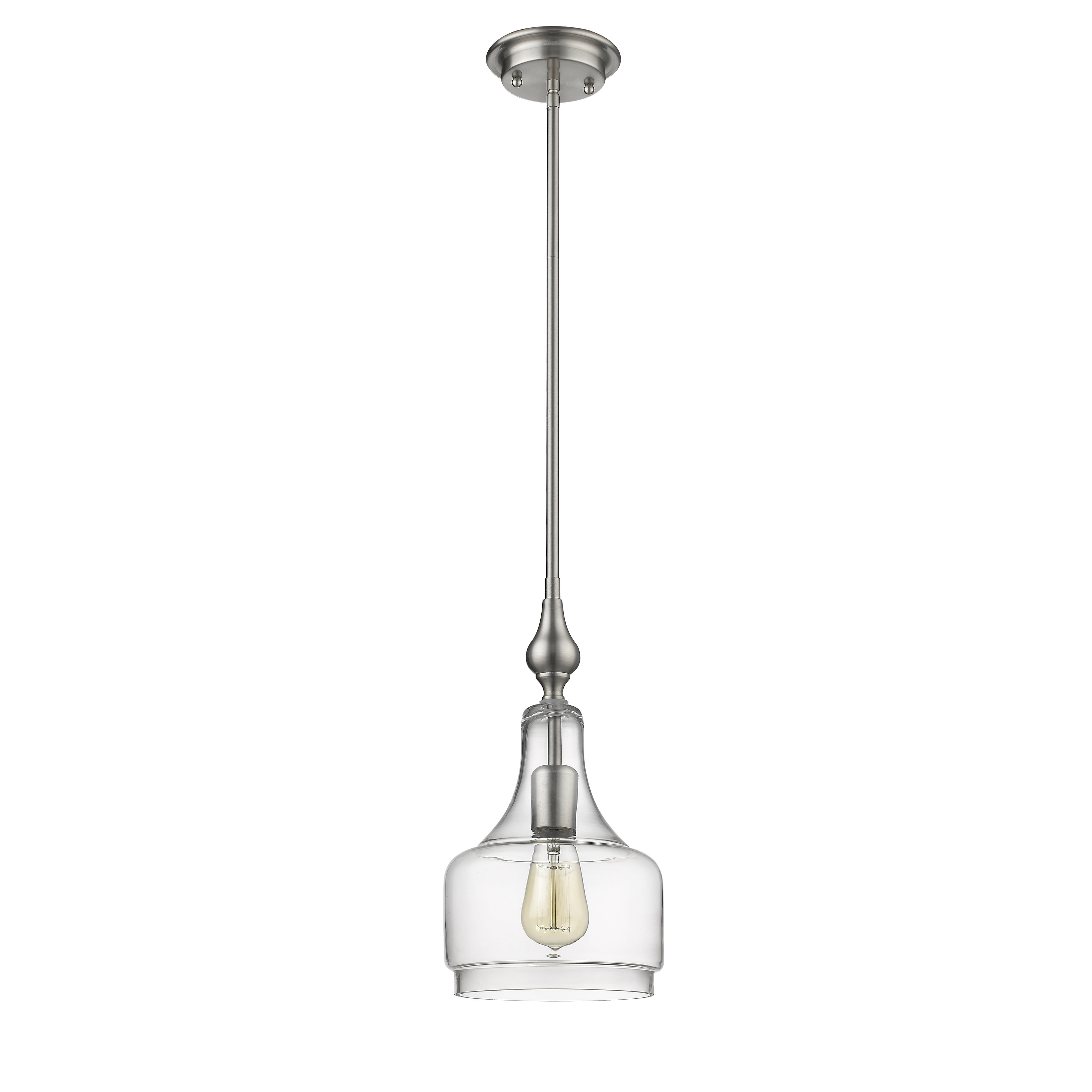 Dunson 1 Light Single Bell Pendant In Carey 1 Light Single Bell Pendants (Photo 17 of 30)
