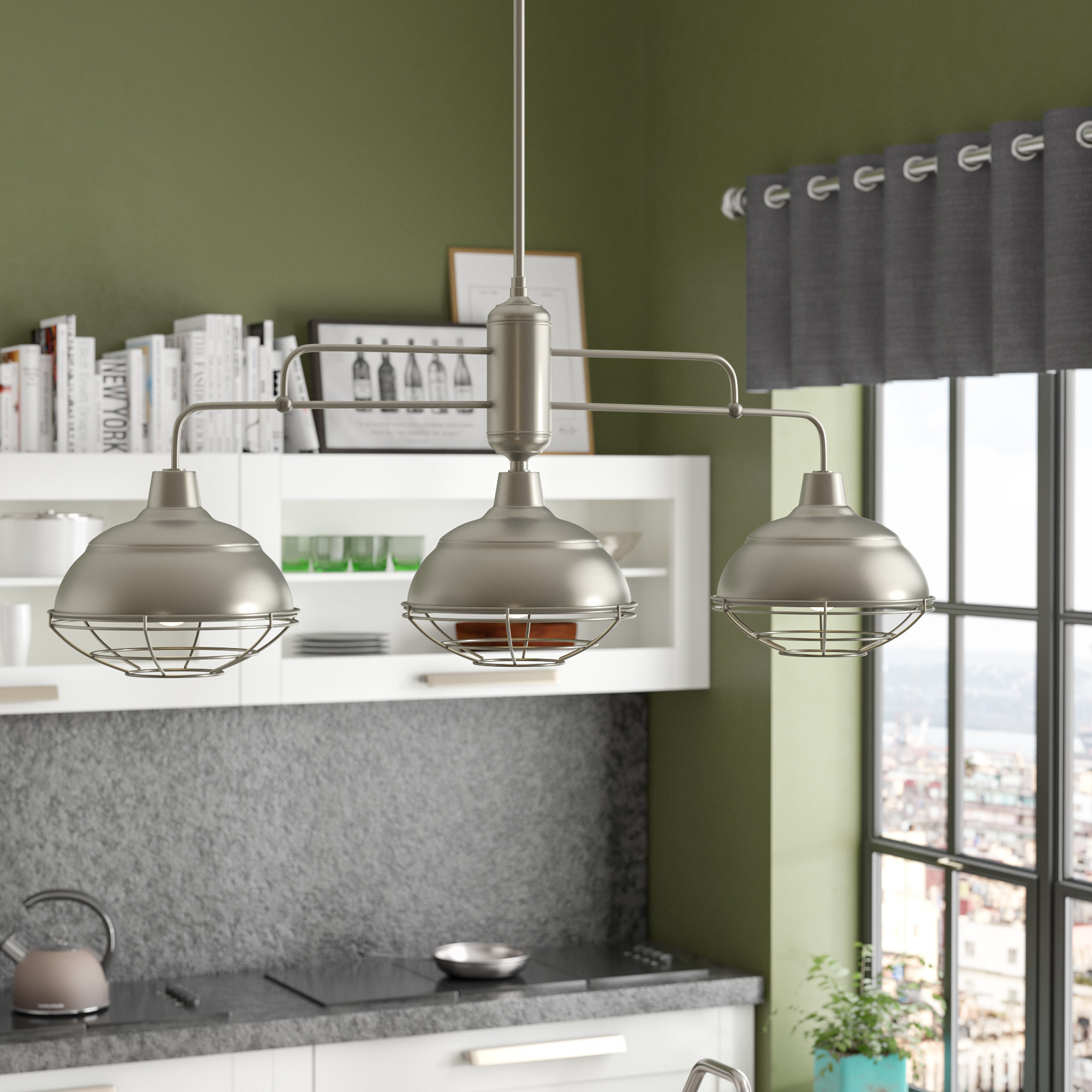 Dunson 3 Light Kitchen Island Pendant With Dunson 3 Light Kitchen Island Pendants (Gallery 1 of 30)